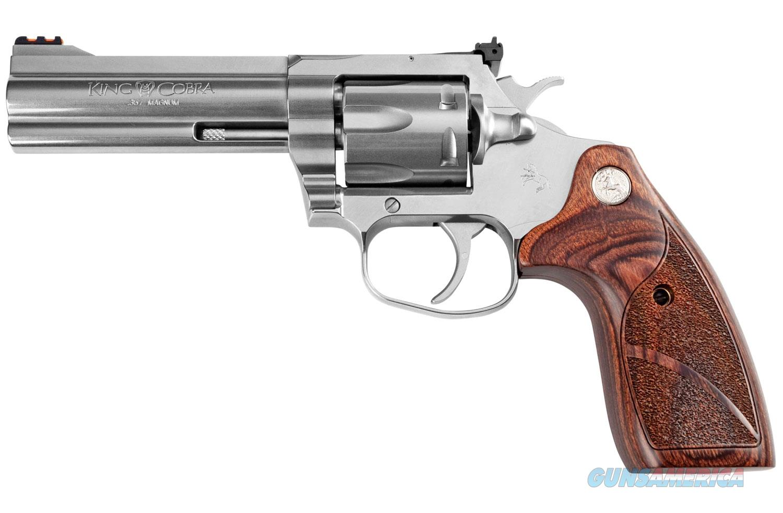 "Colt King Cobra Target 357 Mag 4.25"" SS 6 rounds Altamont Wood Grip ""NO CREDIT CARD FEE""  Guns > Pistols > Taurus Pistols > Revolvers"