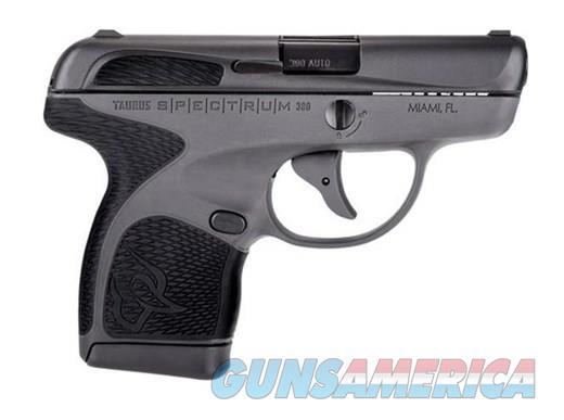 Taurus 1007031201 Spectrum 380acp 6+1/7+1 Black and Gray 10.2 oz *NO CREDIT CARD FEE*  Guns > Pistols > Taurus Pistols > Semi Auto Pistols > Polymer Frame