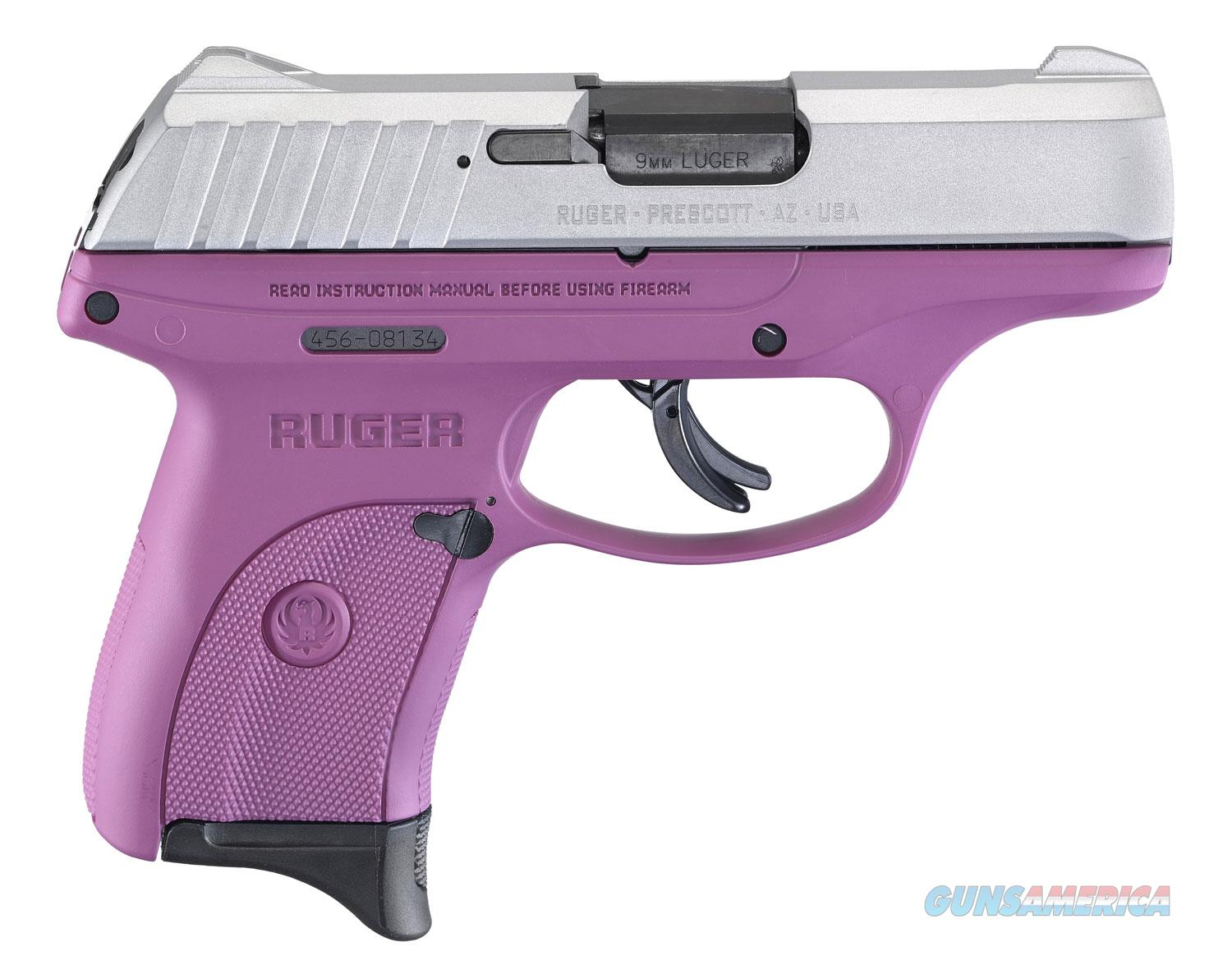 """Ruger EC9s 9mm 3295 3.12"""" 7+1 Purple/Silver Thumb Safety """"NO CREDIT CARD FEE"""" *New in Box*  Guns > Pistols > Ruger Semi-Auto Pistols > EC9"""