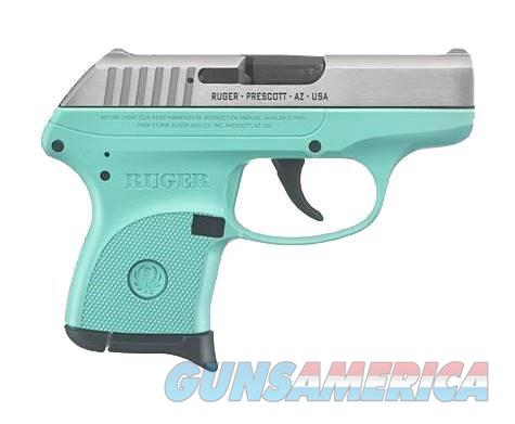 """RUGER LCP 380 ACP 3745 6+1 Turquoise Blue/ SS Slide """"NO CREDIT CARD FEE""""  Guns > Pistols > Ruger Semi-Auto Pistols > LCP"""