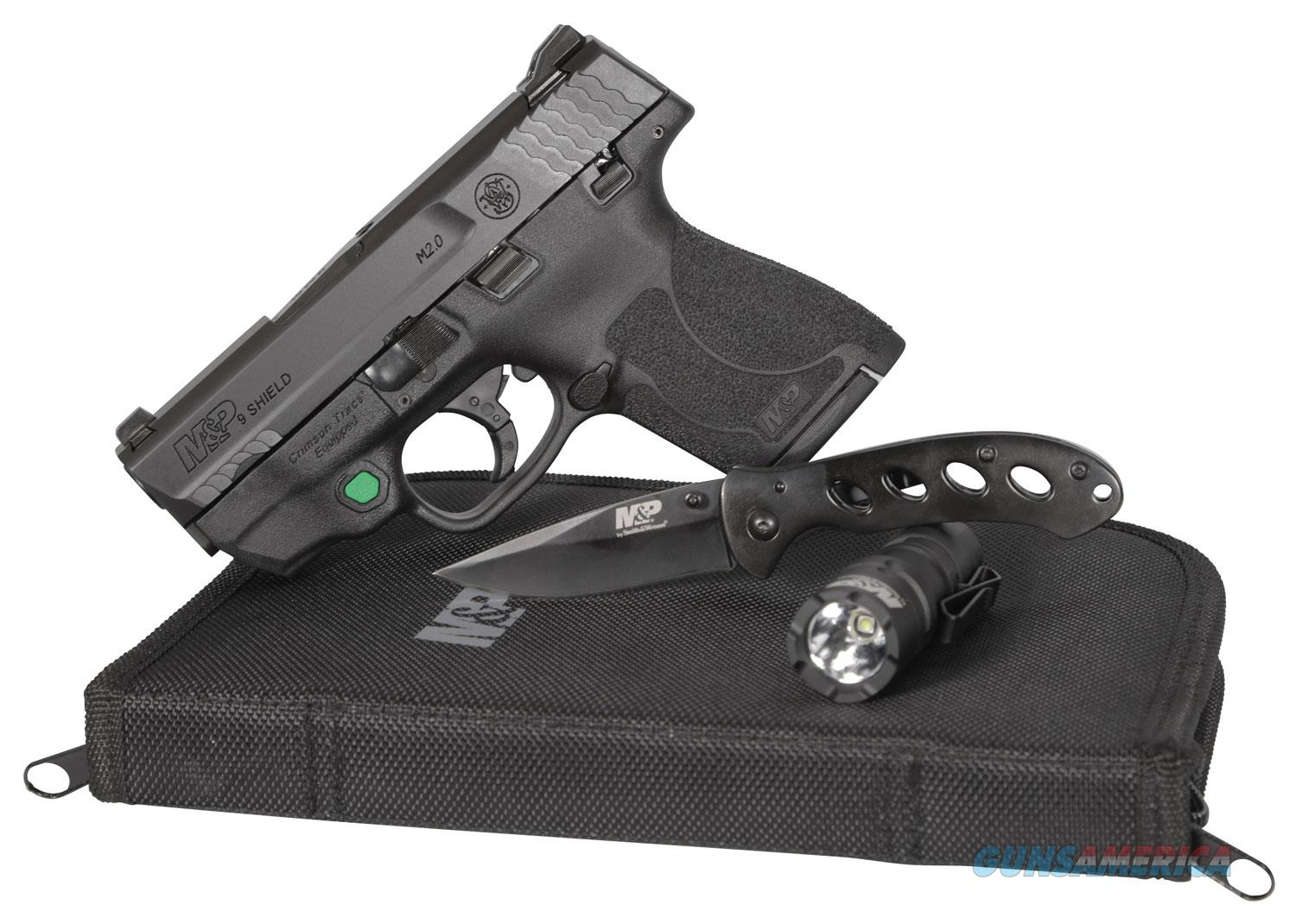 "Smith & Wesson 12396 M&P 9 Shield M2.0 EDC Kit Crimson Green Trace Laser, Thumb Safety ""NO CREDIT CARD FEE""   Guns > Pistols > Smith & Wesson Pistols - Autos > Shield"