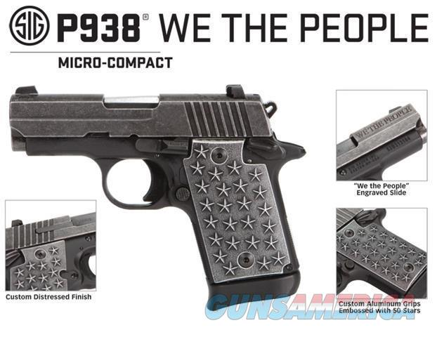 "Sig Sauer P938 WE THE PEOPLE 9MM ""NO CREDIT CARD FEE"" FREE SHIPPING  Guns > Pistols > Sig - Sauer/Sigarms Pistols > P938"