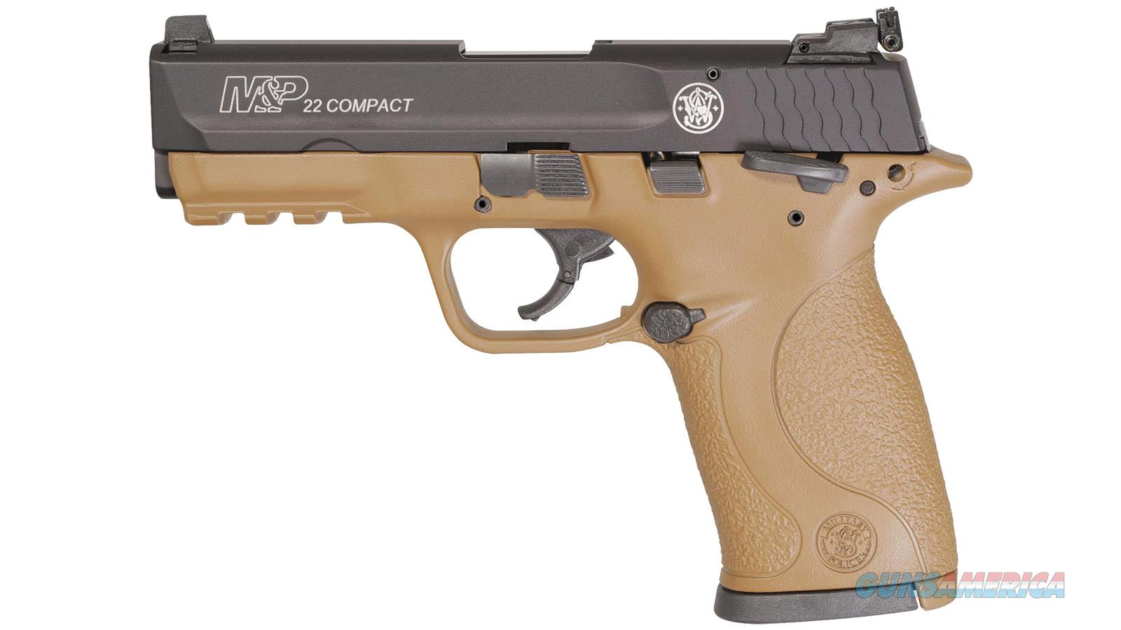 """SMITH & WESSON M&P22 COMPACT FDE 12393  10+1 """"NO CREDIT CARD FEE""""  Guns > Pistols > Smith & Wesson Pistols - Autos > .22 Autos"""