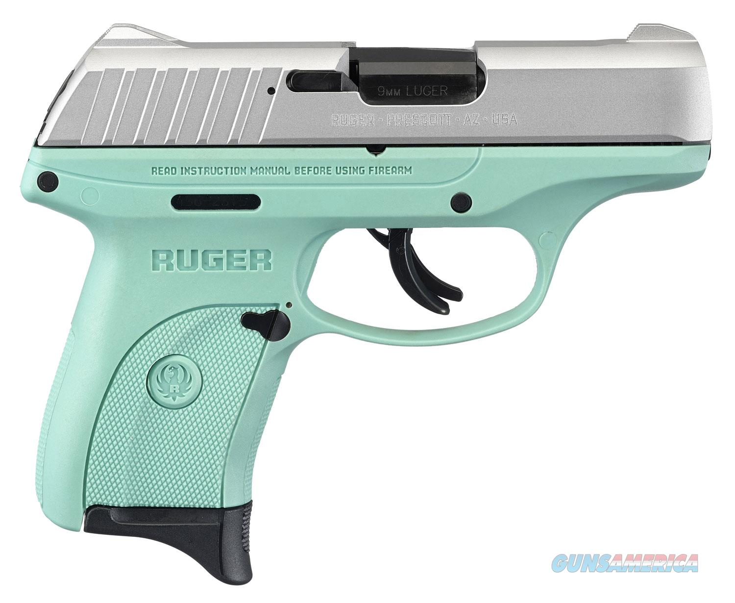 "Ruger EC9S 13200 9mm 3"" 7+1 Turquoise Blue/Silver Thumb Safety ""NO CREDIT CARD FEE"" *New in Box*  Guns > Pistols > Ruger Semi-Auto Pistols > EC9"