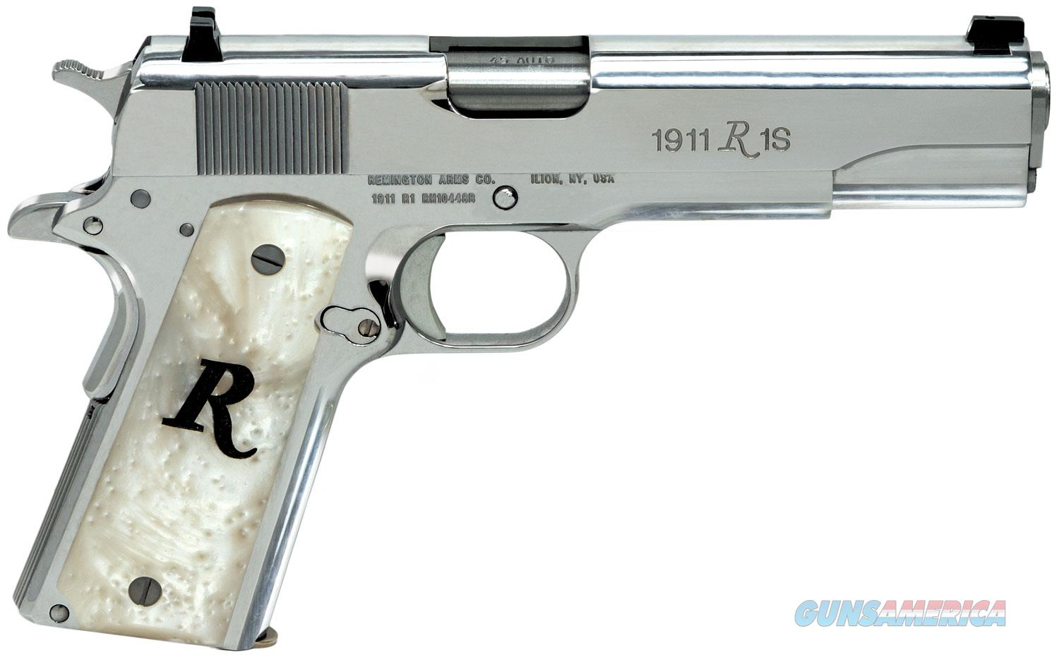 "Remington 1911 R1 High Polish Stainless 45 acp 5"" 7+1 White Synthetic Pearl Grip ""NO CREDIT CARD FEE""  Guns > Pistols > Remington Pistols - Modern > 1911"