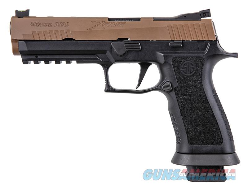 "Sig Sauer P320 X-Five 9mm 5"" (4) 21-round Mags Coyote PVD Slide,Fiber optic sights  ""NO CREDIT CARD FEE""  Guns > Pistols > Sig - Sauer/Sigarms Pistols > P320"