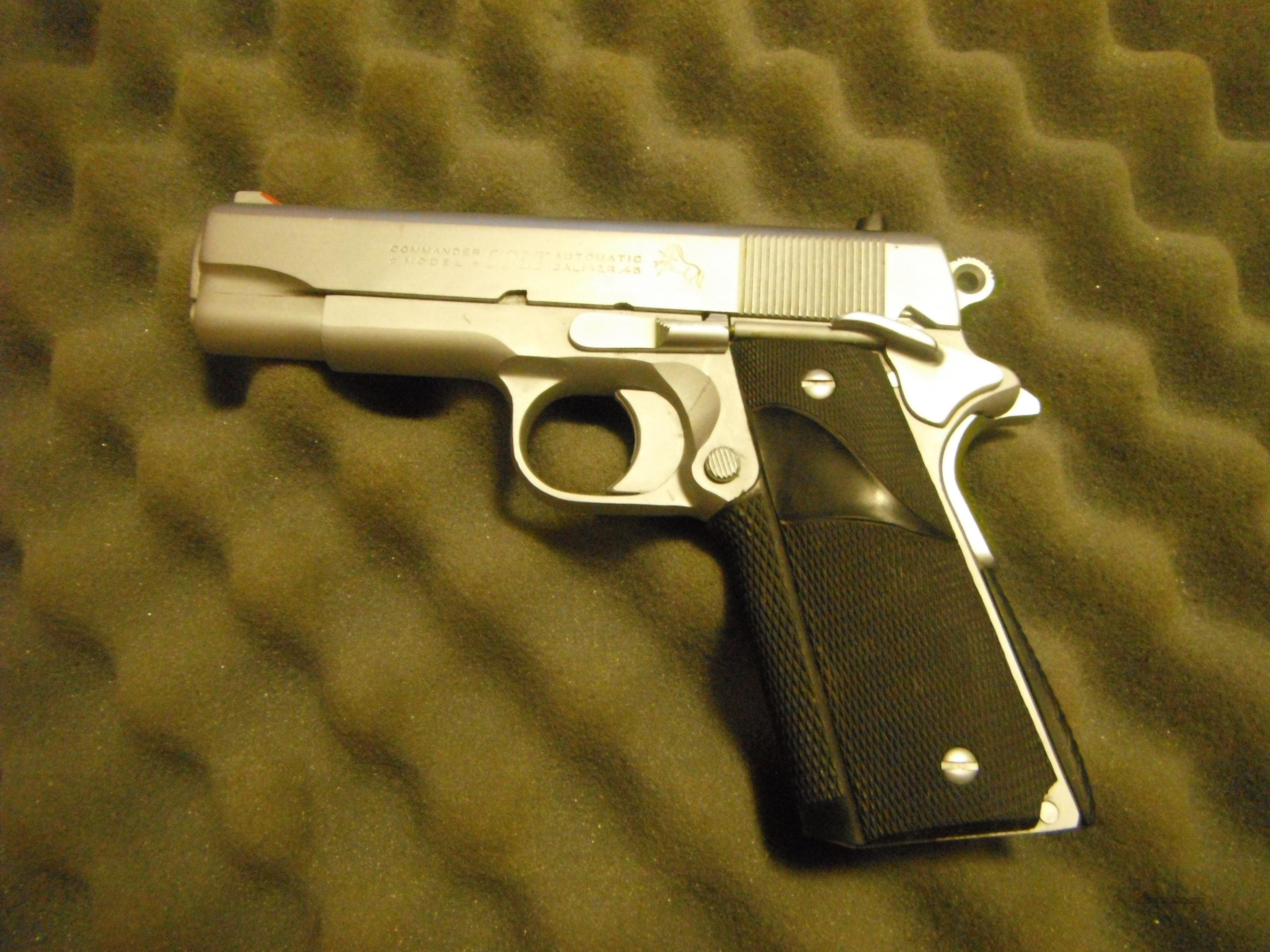 Light Weight Nickel Colt Commander  Guns > Pistols > Colt Automatic Pistols (1911 & Var)