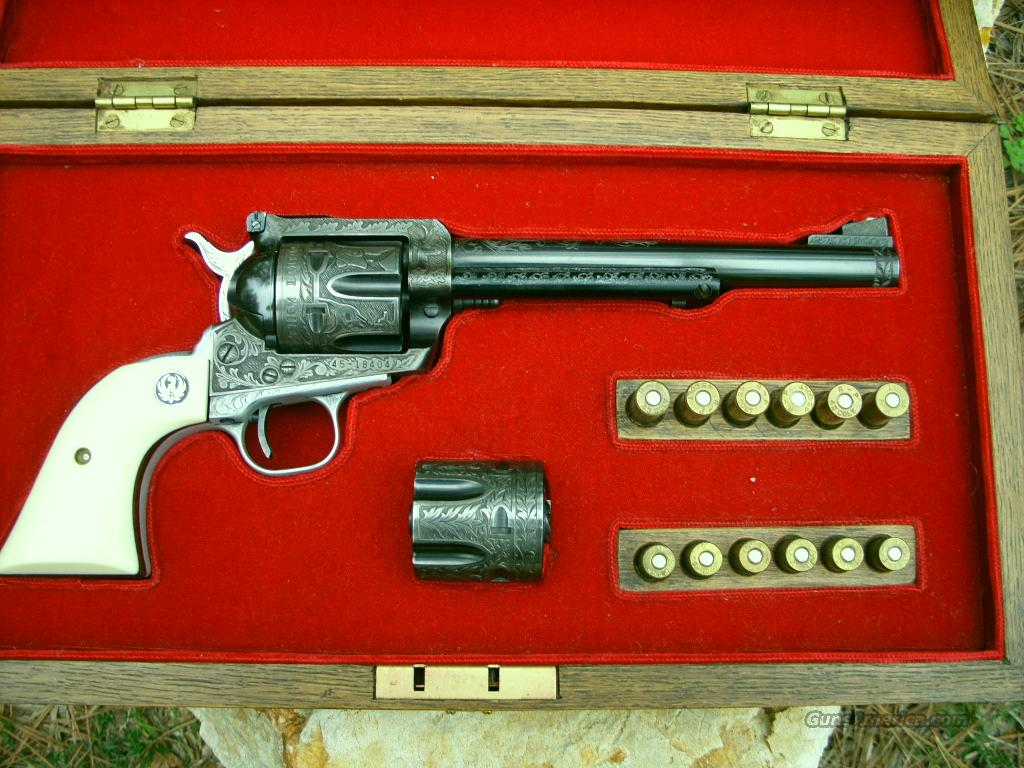 "ENGRAVED 72 RUGER BLACKHAWK 45 COLT  ""THE ONLY ONE TO EXCIST LIKE IT""  Guns > Pistols > Ruger Single Action Revolvers > Blackhawk Type"