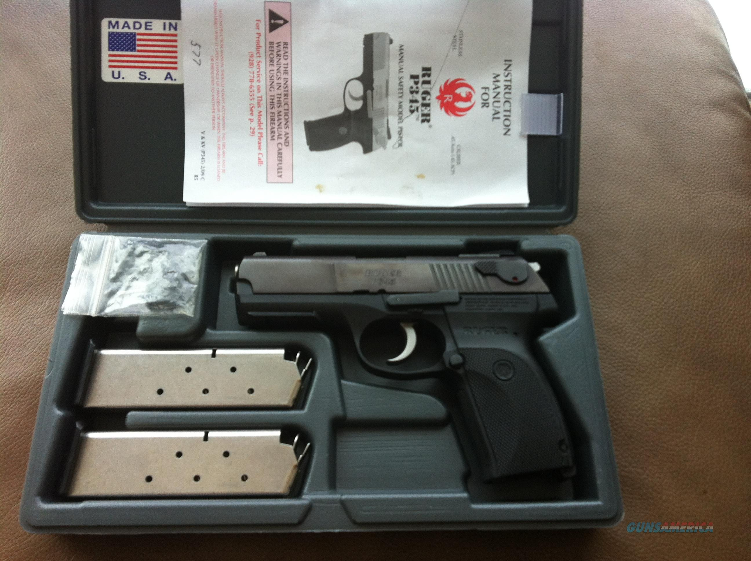 RUGER P345 45ACP $$$$ PRICE LOWERED $$$$  Guns > Pistols > Ruger Semi-Auto Pistols > P-Series