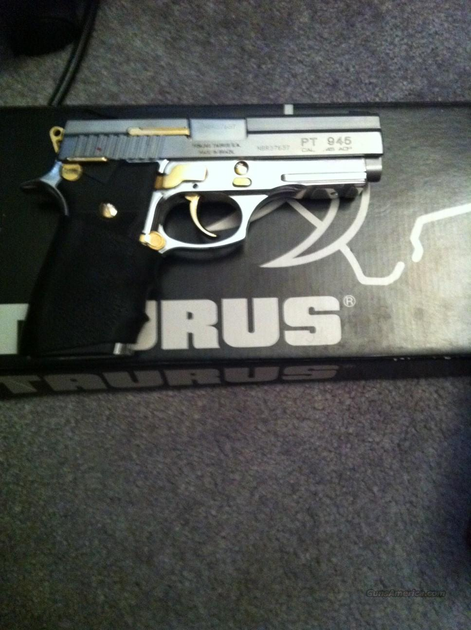 TAURUS PT945 .45 ACP WITH GOLD ACCENTS AND MOTHER OF PEARL GRIPS! AMMO INCLUDED!  Guns > Pistols > Taurus Pistols/Revolvers > Pistols > Steel Frame