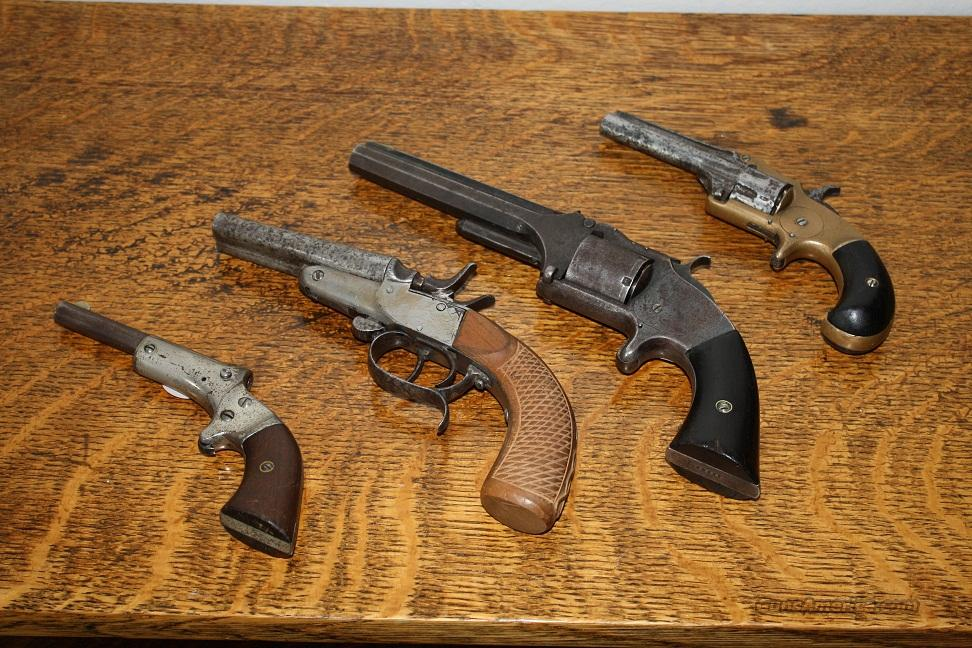 LOT of antique pistols and parts:  5 pistols and misc parts  Guns > Pistols > Antique (Pre-1899) Pistols - Ctg. Misc.
