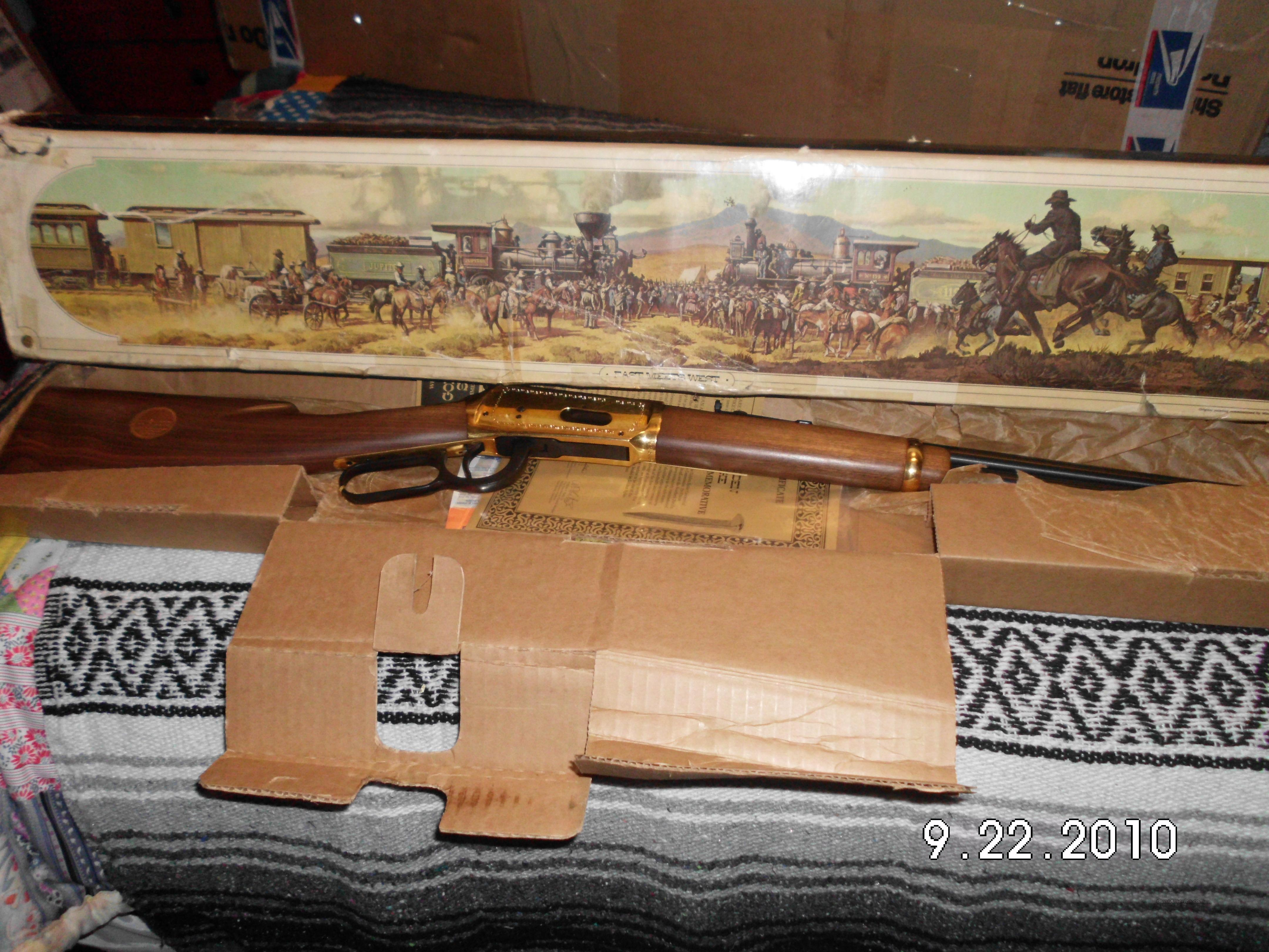 30-30 golden spike  Guns > Rifles > Winchester Rifle Commemoratives