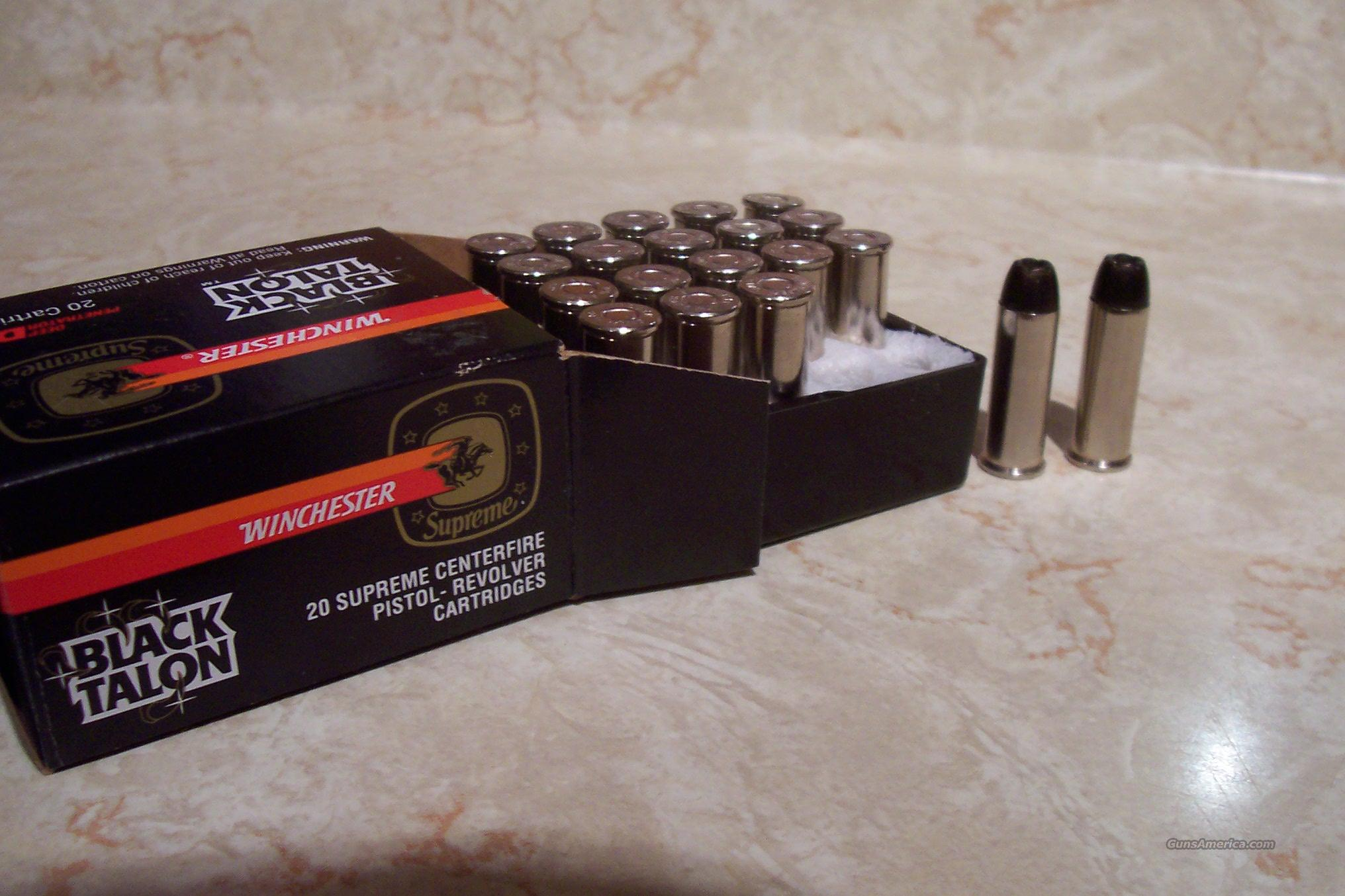 Winchester Black Talon 44 Magnum  Non-Guns > Ammunition