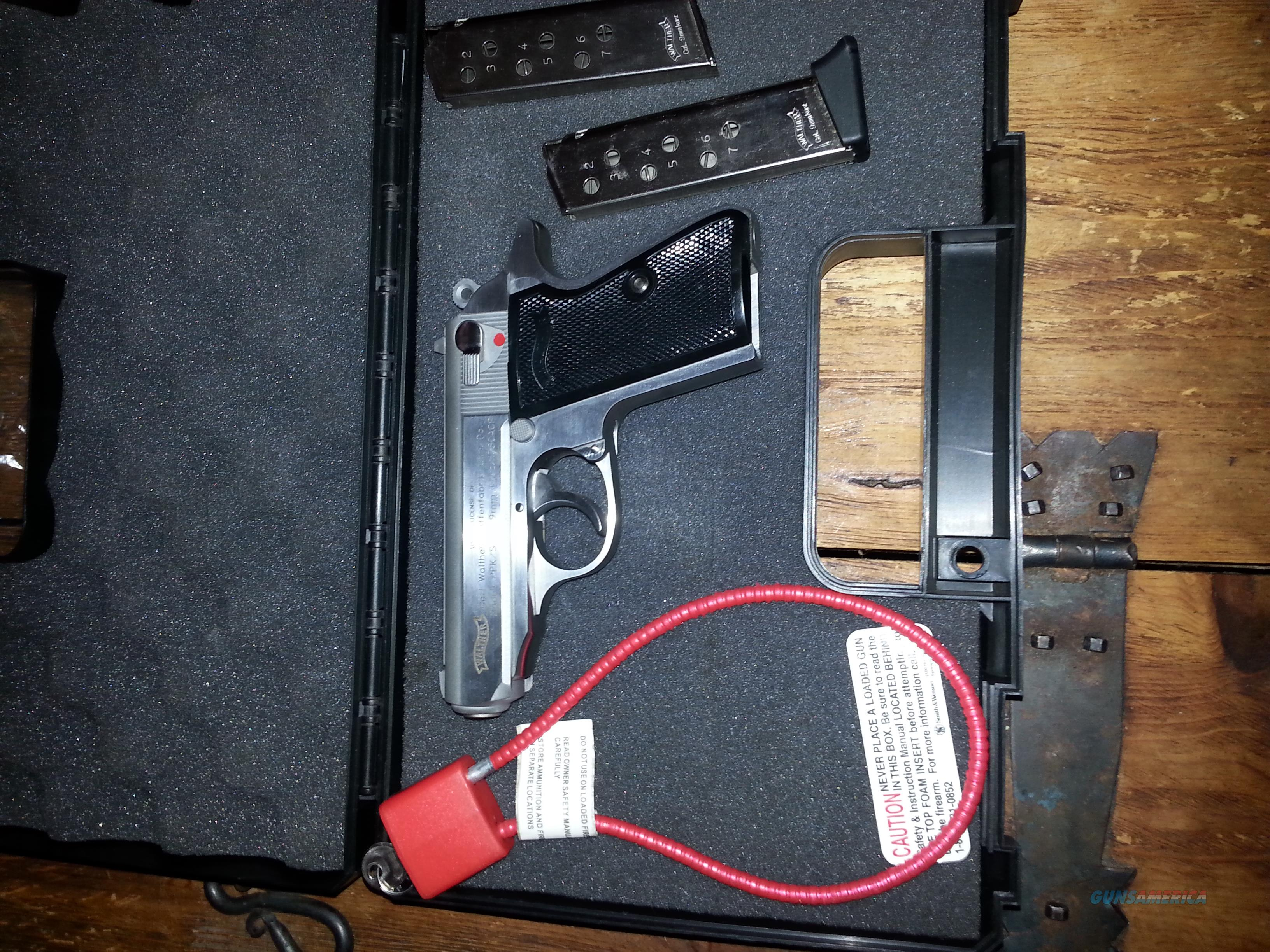 WALTHER PPK/S-1 380ACP FREE S/H WITH BOX TWO MAGS  Guns > Pistols > Walther Pistols > Post WWII > PPK Series