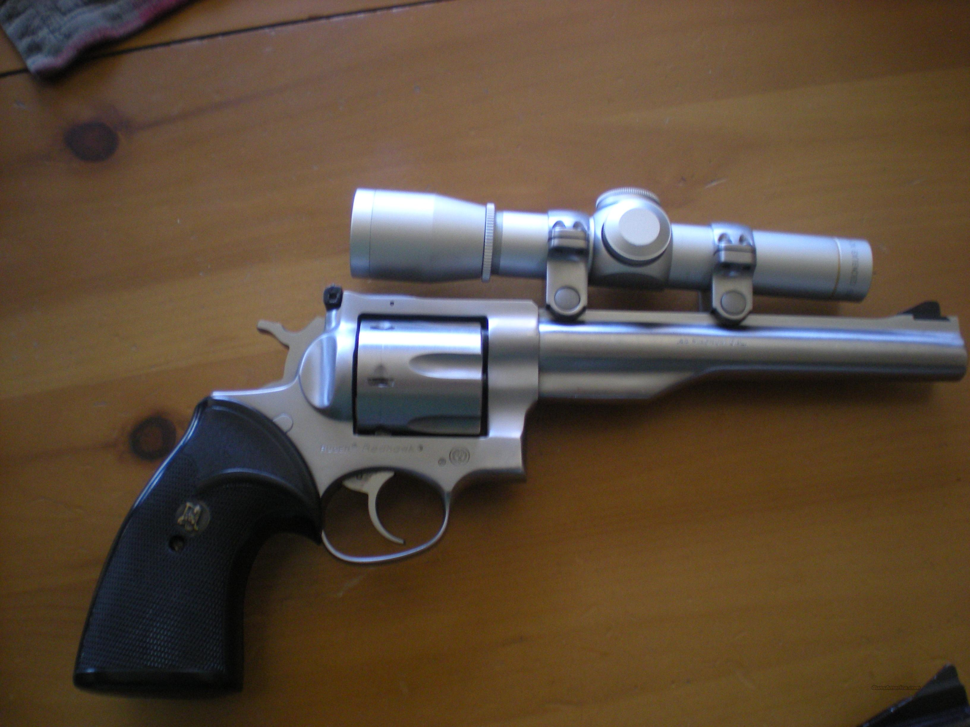 Ruger Redhawk w/ Leupold M8 2x EER scope  Guns > Pistols > Ruger Double Action Revolver > Redhawk Type