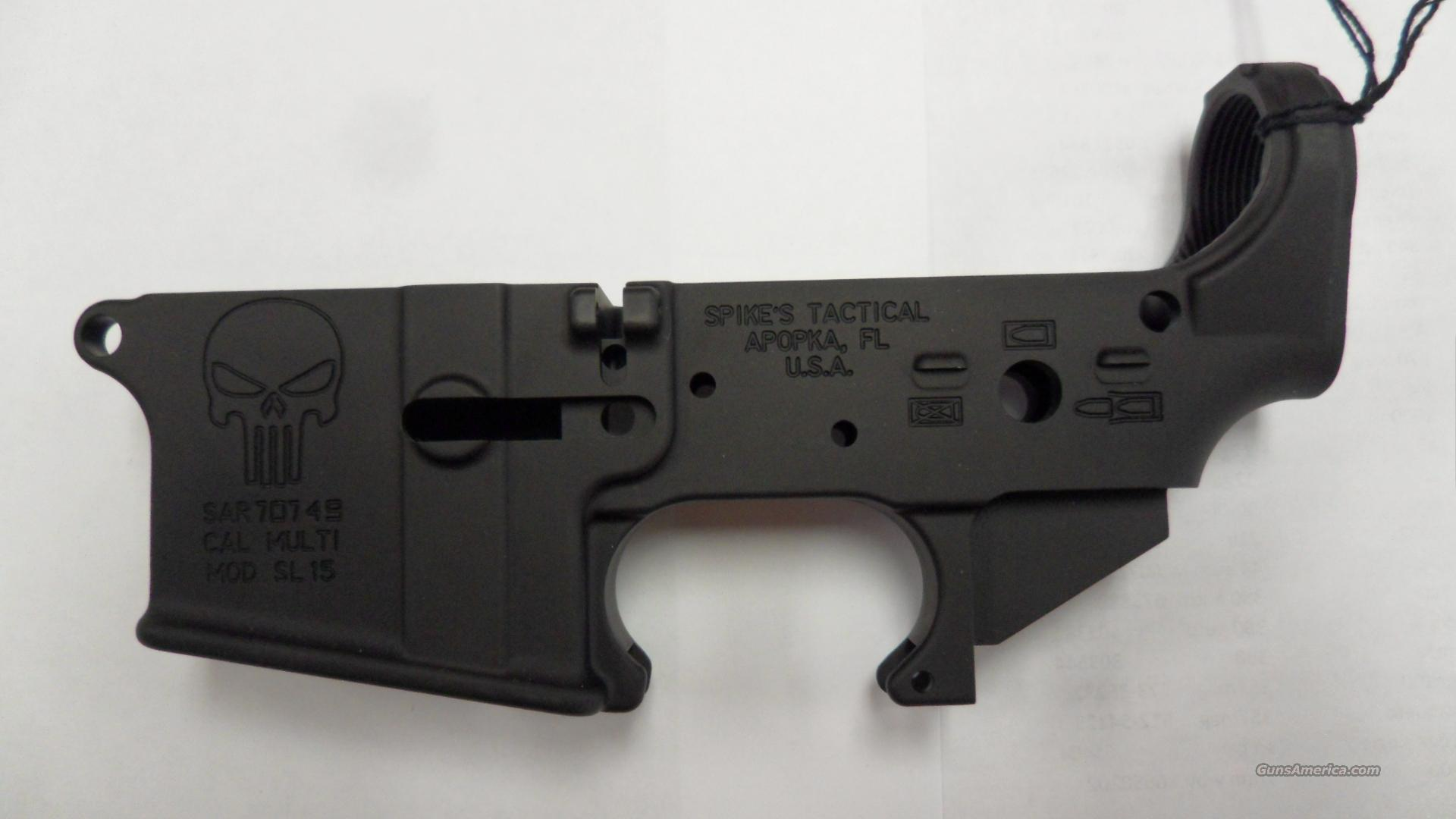 Spikes Tactical Receiver punisher skull  Guns > Rifles > AR-15 Rifles - Small Manufacturers > Lower Only