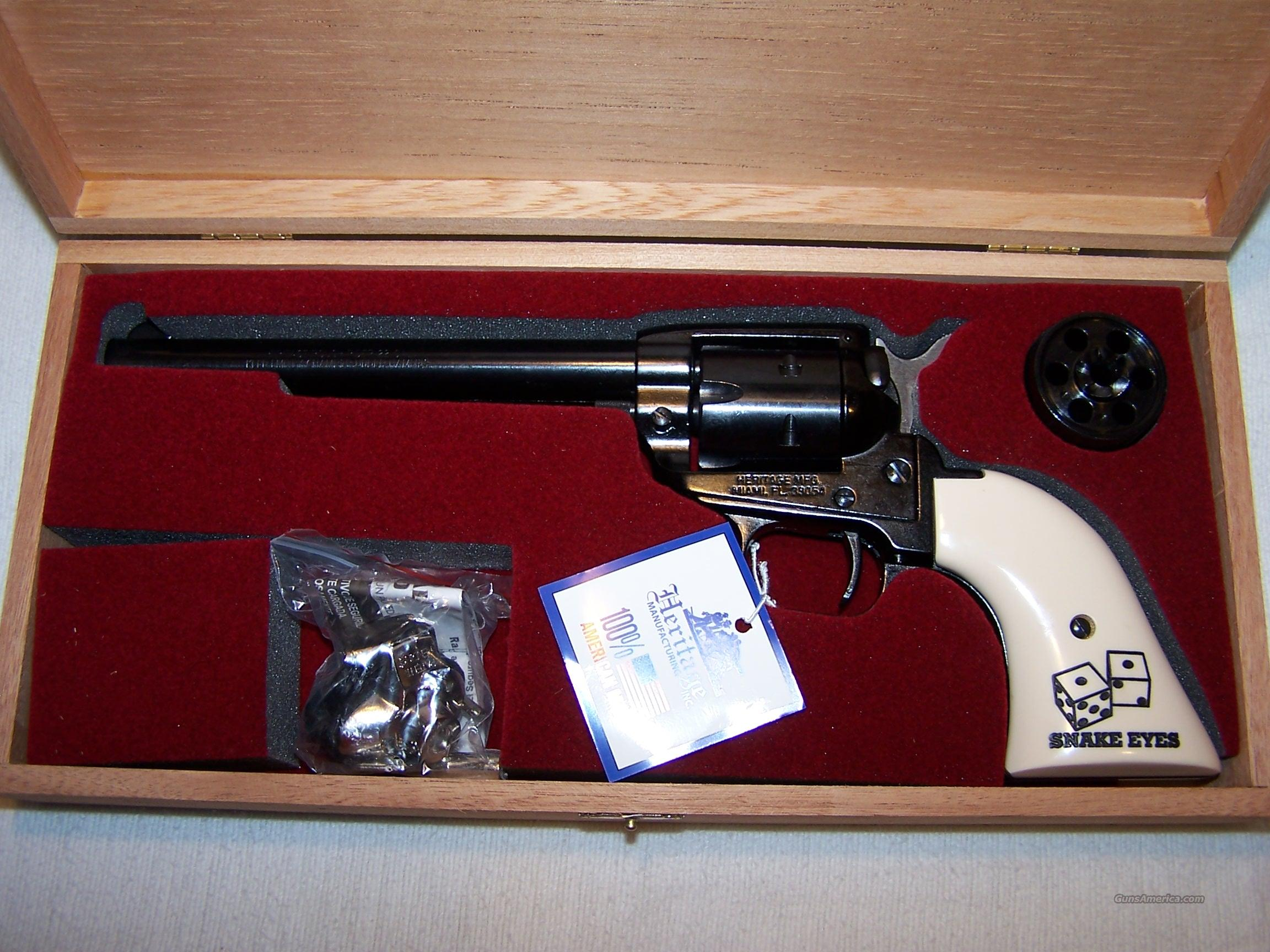 "Heritage Rough Rider   Limited Edition ""Snake Eyes"" 22LR / 22Mag Combo Single   Action Revolver  Guns > Pistols > Cowboy Action Pistol Misc."