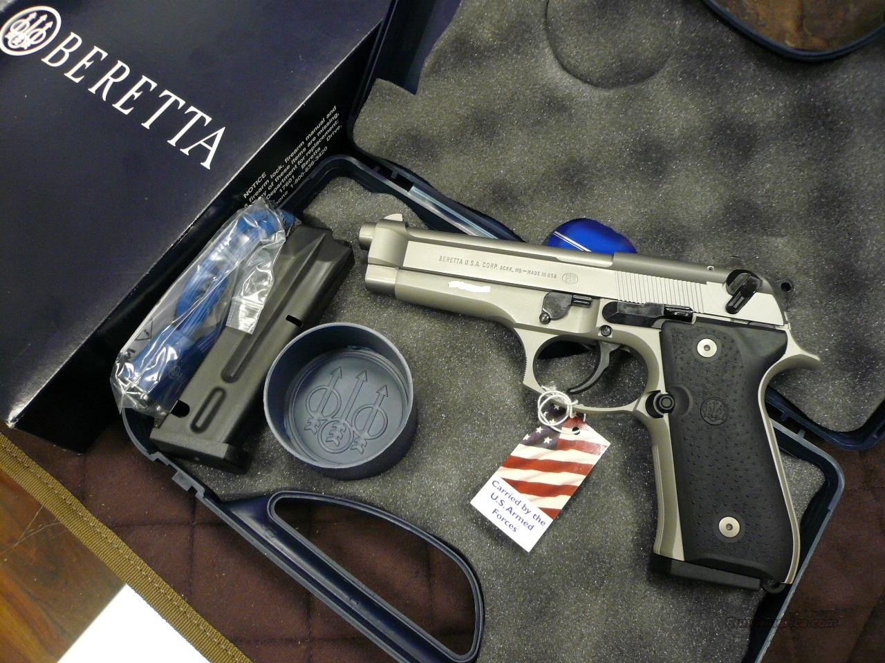 92FS/STAINLESS 9MM NIB (CA LEGAL)  Guns > Pistols > Beretta Pistols > Model 92 Series