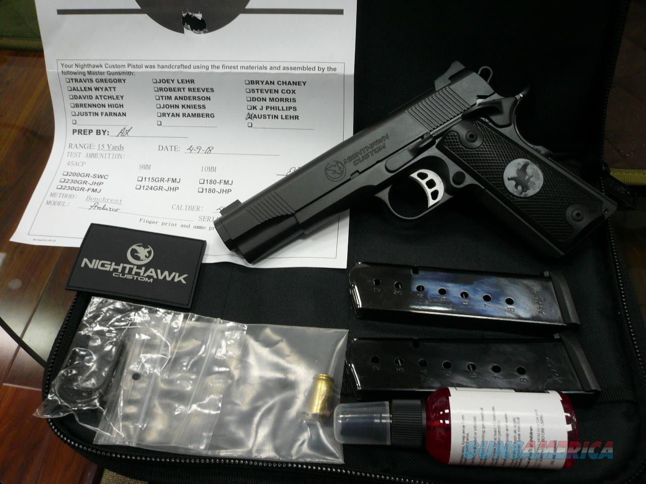 """PREDATOR/BLACK  5"""" 45Acp NIB  Guns > Pistols > Nighthawk Pistols"""