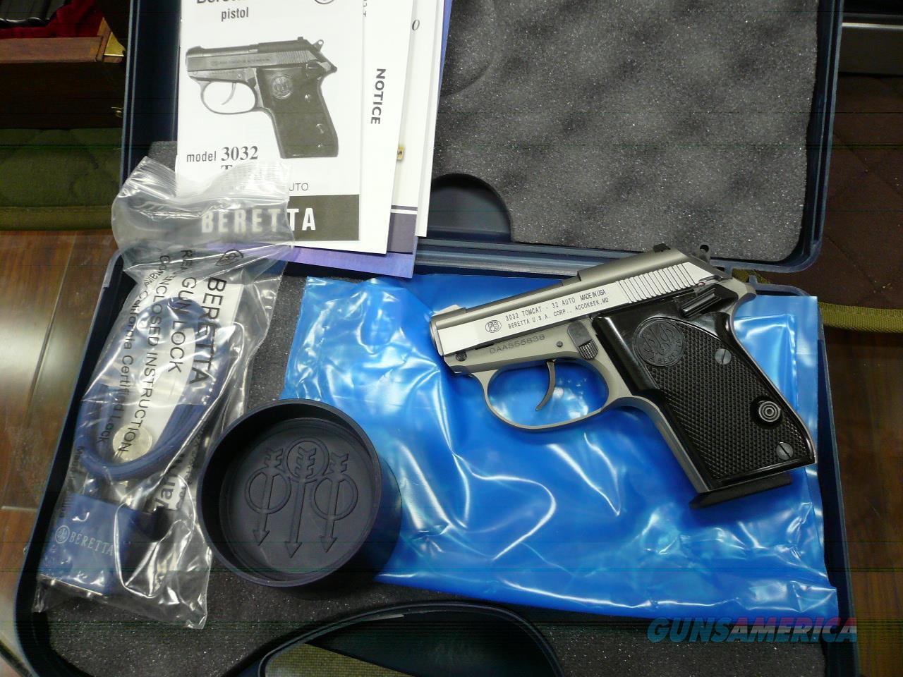 Tomcat/3032 S/S 32Acp NIB (CA LEGAL)  Guns > Pistols > Beretta Pistols > Small Caliber Tip Out