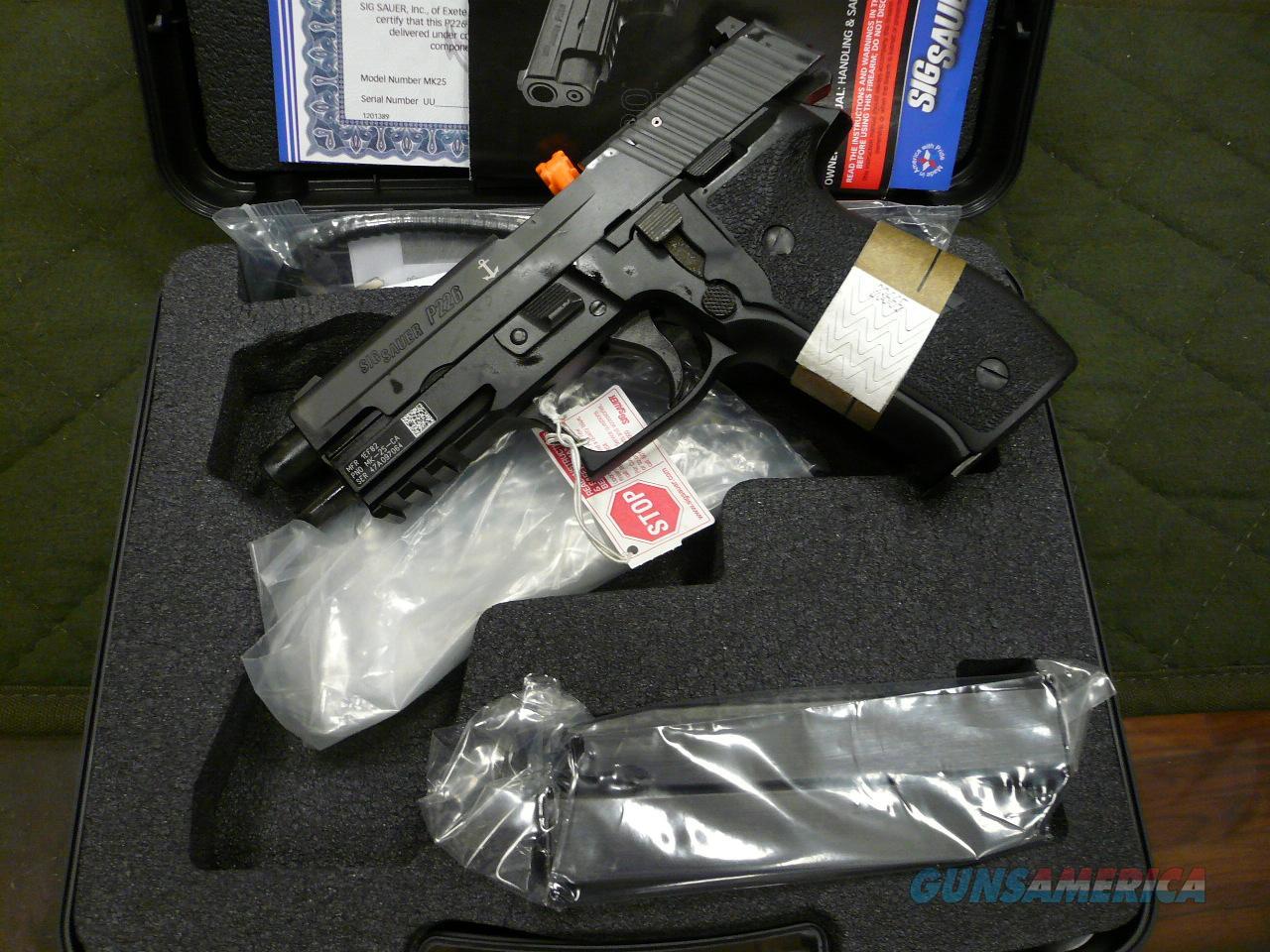 P226/MK25 NAVY 9mm NIB  Guns > Pistols > Sig - Sauer/Sigarms Pistols > P226
