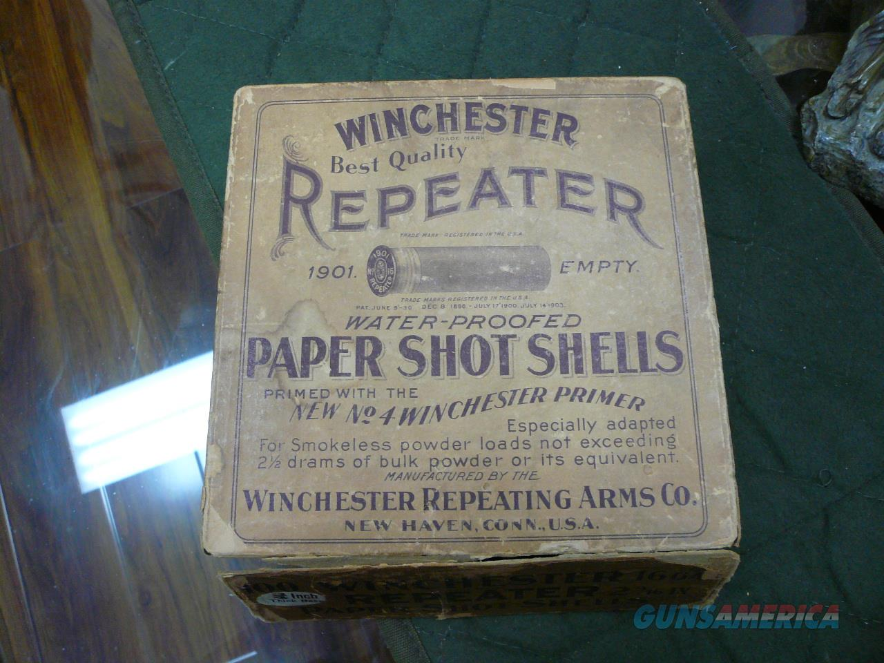 Vintage 1901 Winchester 100rd paper shot shells 16ga (empty)  Non-Guns > Collectible Cartridges