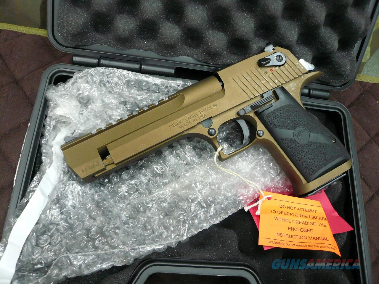 Desert Eagle Burned Bronze 44Mag NIB (CA-LEGAL)  Guns > Pistols > Magnum Research Pistols