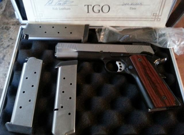 "Weekend Price Special - SPRINGFIELD ARMORY 1911-A1 TGO LEGEND SERIES ""ROB LEATHAM"" .45 ACP CUSTOM GUN WITH TRIKON CASE & AUTHENTICITY CERTIFICATES  Guns > Pistols > Springfield Armory Pistols > 1911 Type"