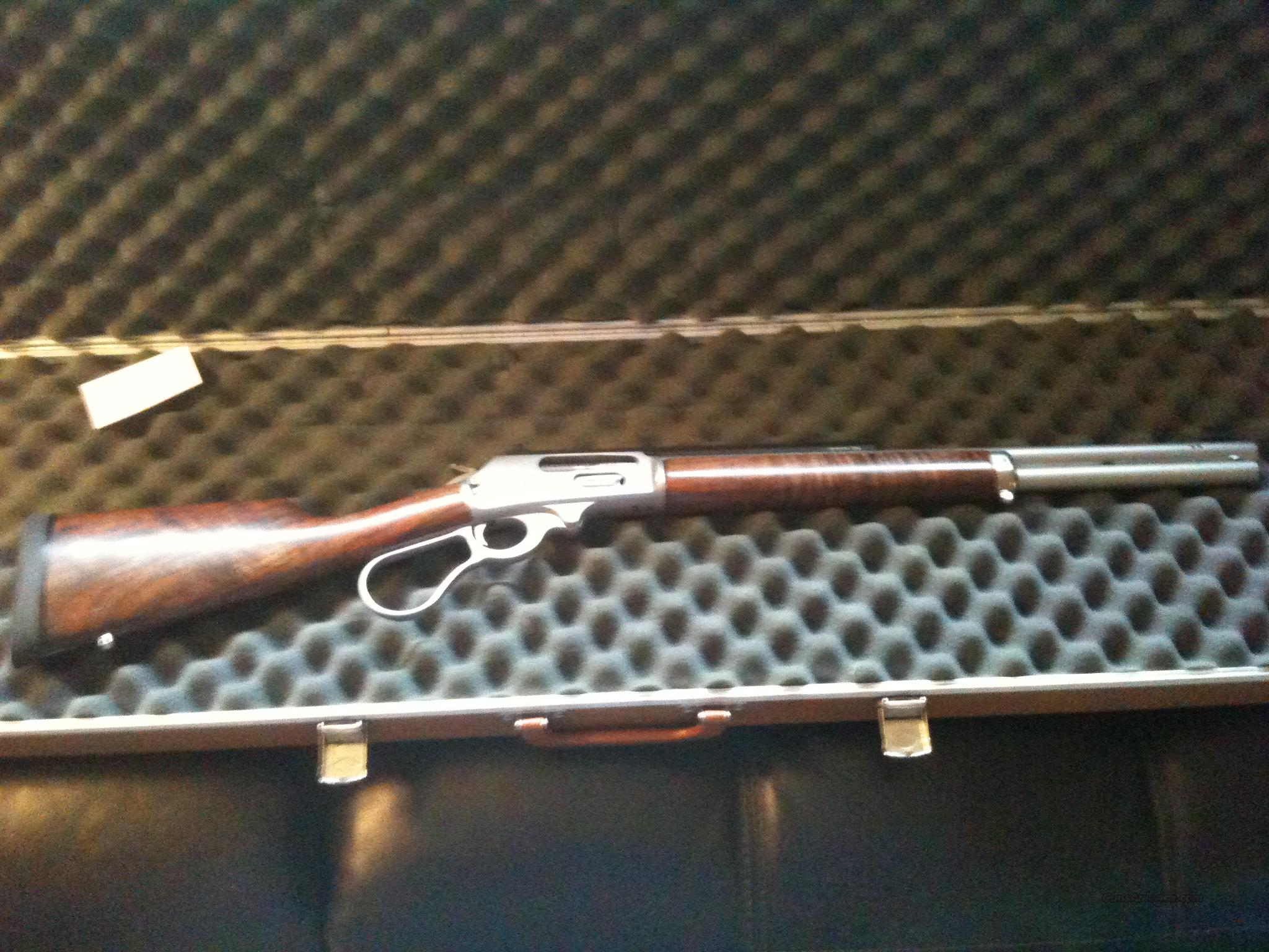 Custom Marlin Lever action 45-70 with Bastogne walnut stocks and more.   Guns > Rifles > Marlin Rifles > Modern > Lever Action