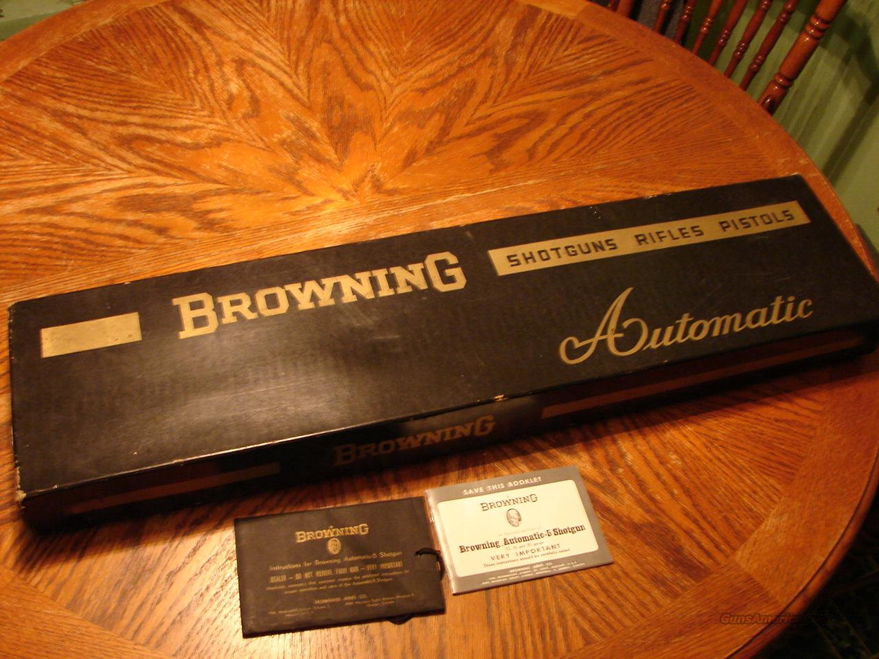 Browning Sweet 16 A5 belgium box and owners manual   Non-Guns > Gun Cases