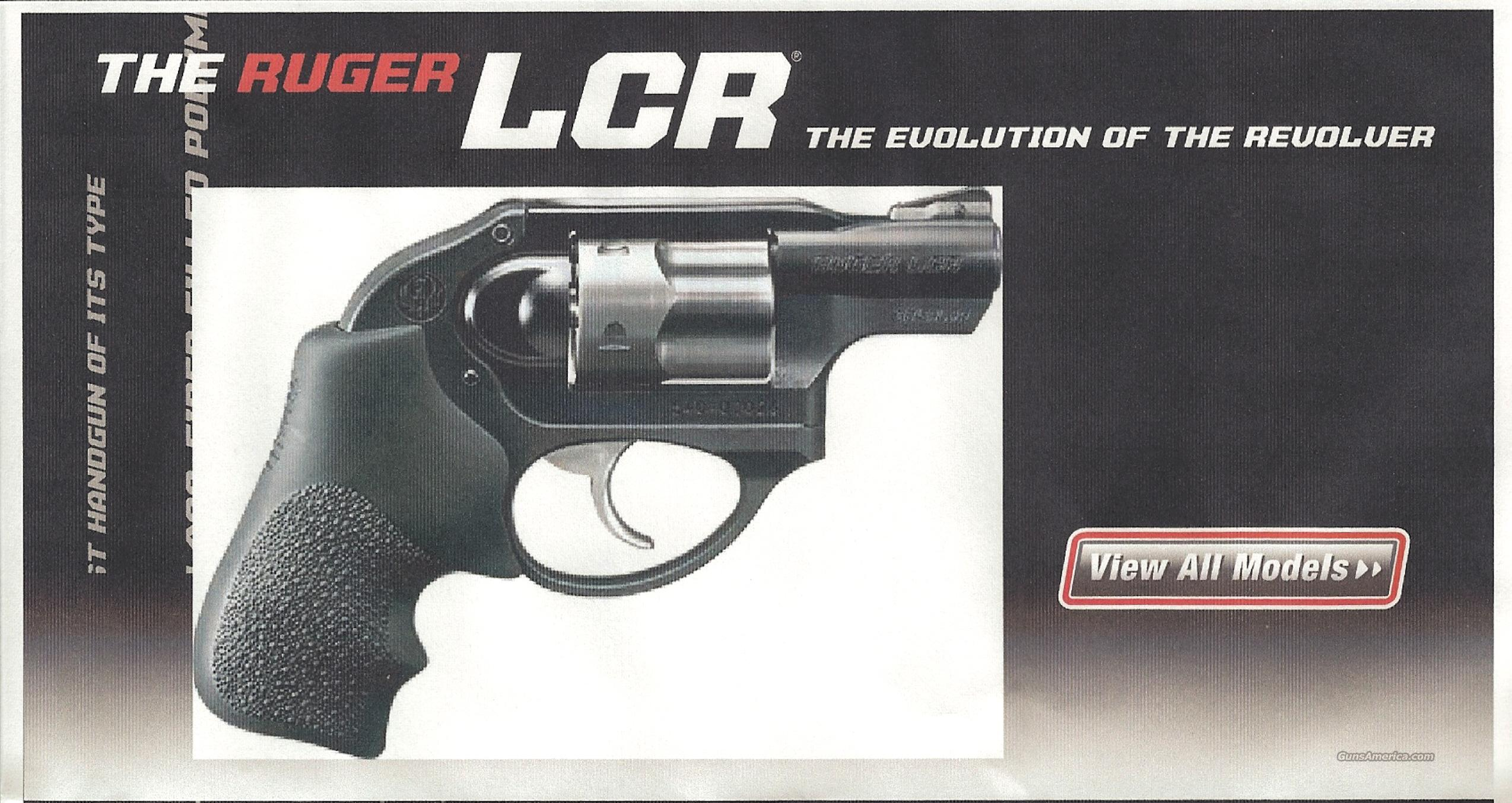 Ruger LCR Double Action Revolver  Guns > Pistols > Ruger Double Action Revolver > SP101 Type