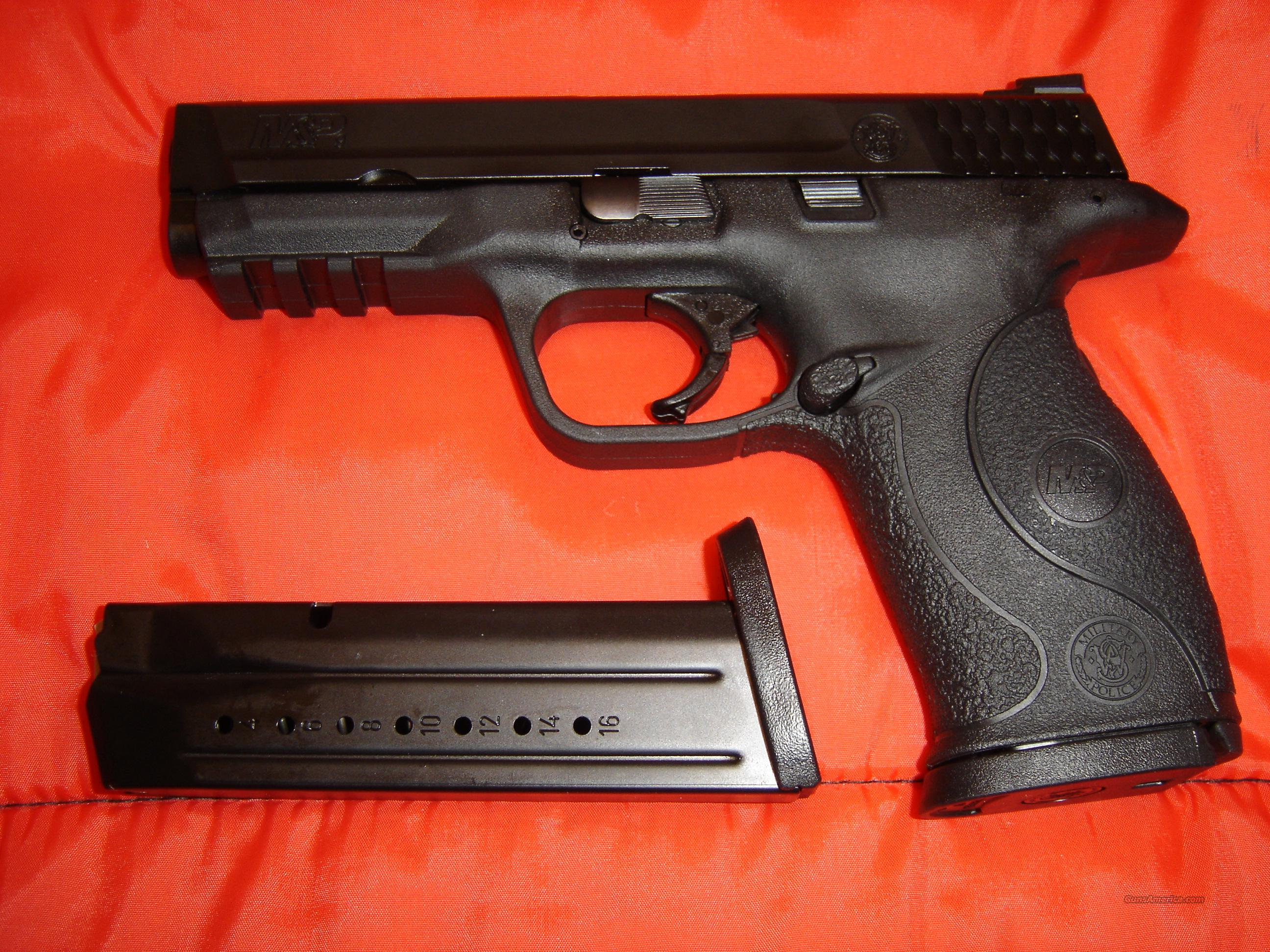 Smith and Wesson M&P 9mm with Crimson Trace Laser  Guns > Pistols > Smith & Wesson Pistols - Autos > Polymer Frame