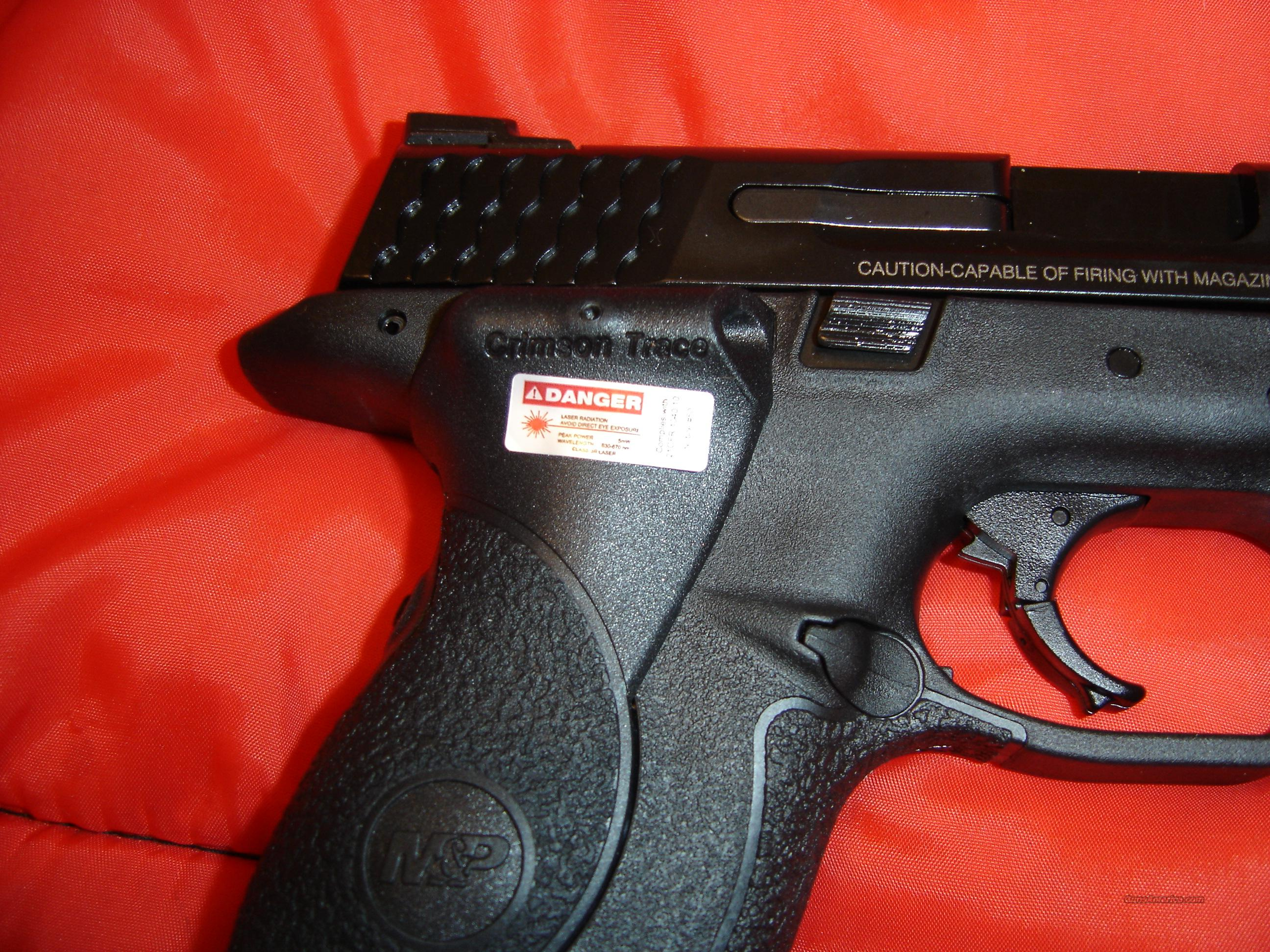 Smith and Wesson M&P9 with Crimson Trace Laser  Guns > Pistols > Smith & Wesson Pistols - Autos > Polymer Frame