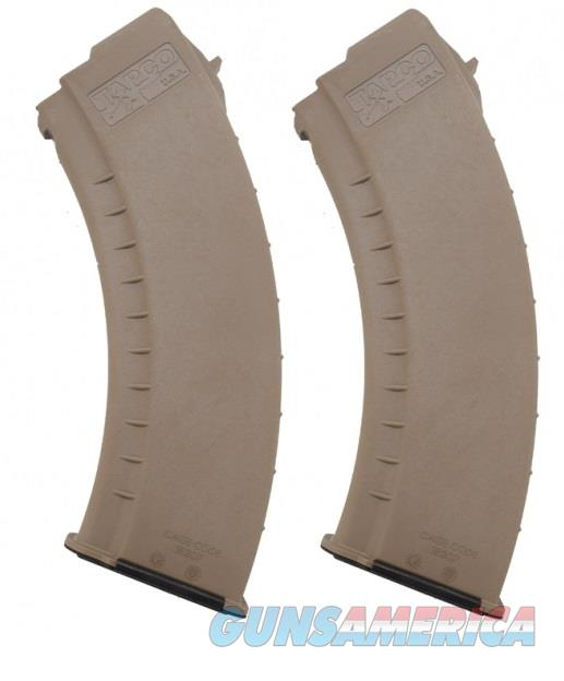 2 AK47 30rd Magazines FDE Smooth TAPCO AK-47 MAG  Non-Guns > Magazines & Clips > Rifle Magazines > AK Family