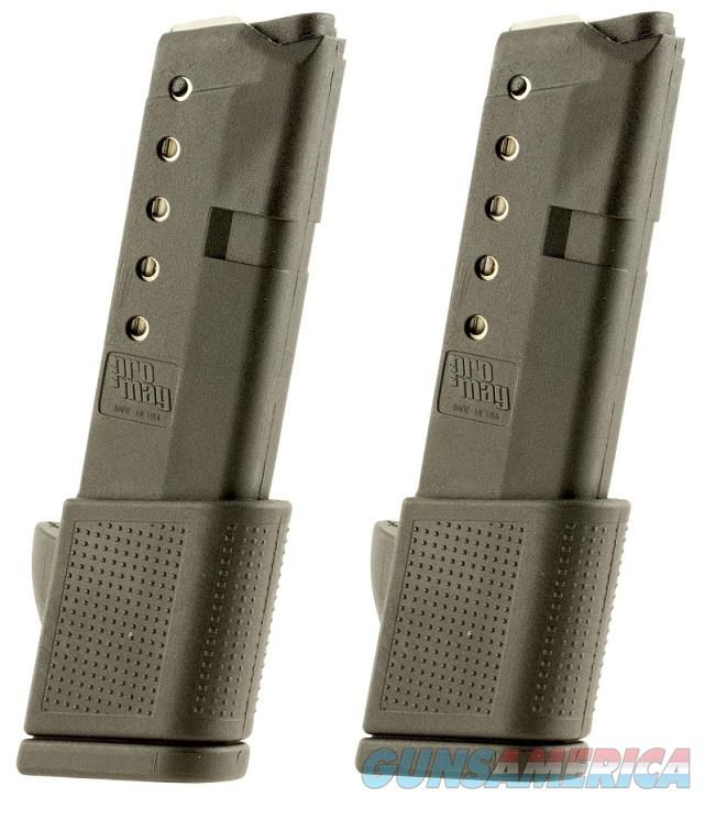 2 Glock 42 Magazines 380 ACP 10rd Extended PRO MAG  Non-Guns > Magazines & Clips > Pistol Magazines > Glock