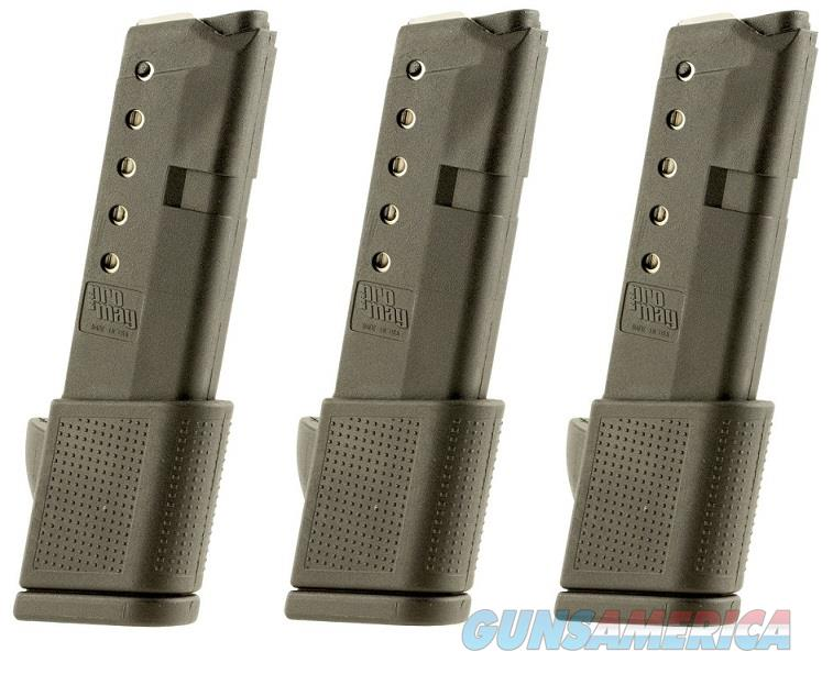 3 Glock 42 Magazines 380 ACP 10rd Extended PRO MAG  Non-Guns > Magazines & Clips > Pistol Magazines > Glock