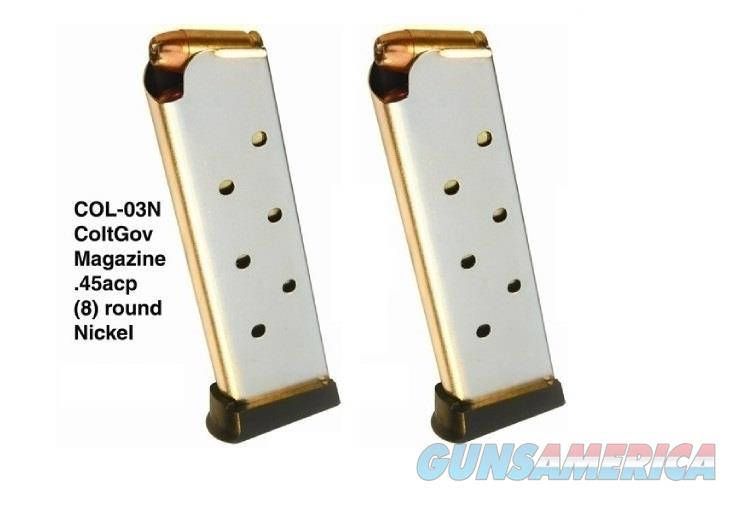 2 Colt 1911 Magazines 45 ACP 8rd Nickel PRO MAG  Non-Guns > Magazines & Clips > Pistol Magazines > 1911