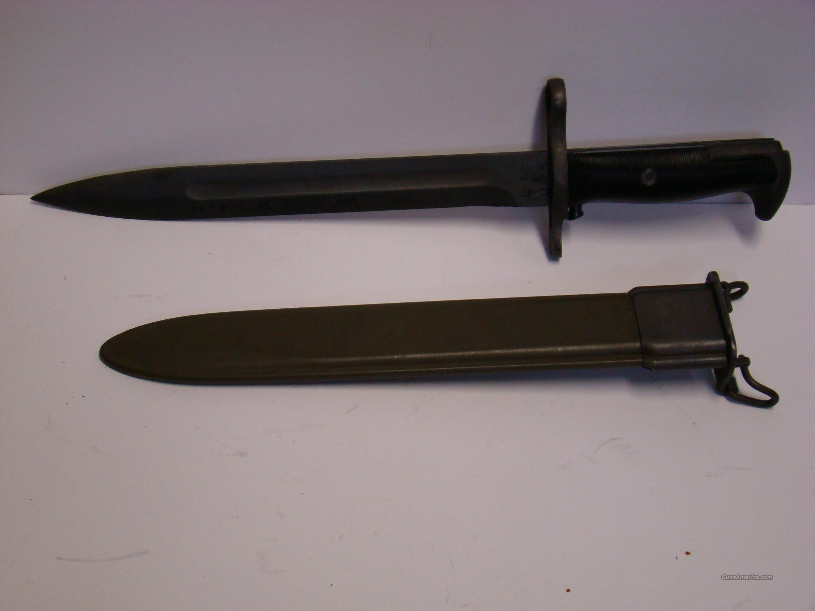 US M1942 M1 Garand Bayonet & Scabbord  Non-Guns > Knives/Swords > Military > Bayonets