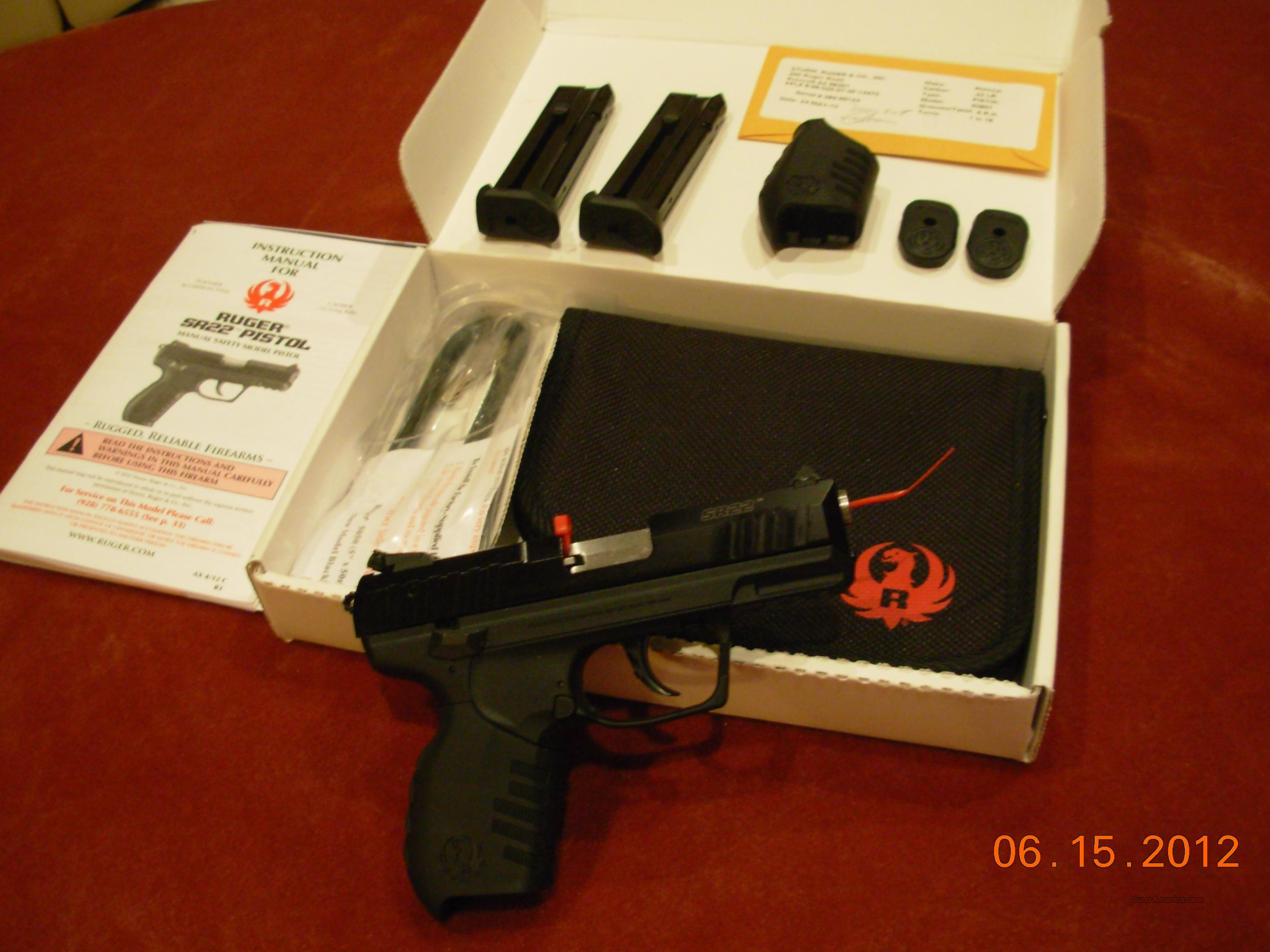 Ruger SR22 LR Semi Auto GREAT PRICE ONE LEFT!  Guns > Pistols > Ruger Semi-Auto Pistols > SR9 & SR40