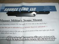 MAUSER 98 SCOPE MOUNT NO GUNSMITHING  Scopes/Mounts/Rings & Optics > Mounts > Traditional Weaver Style > Flat