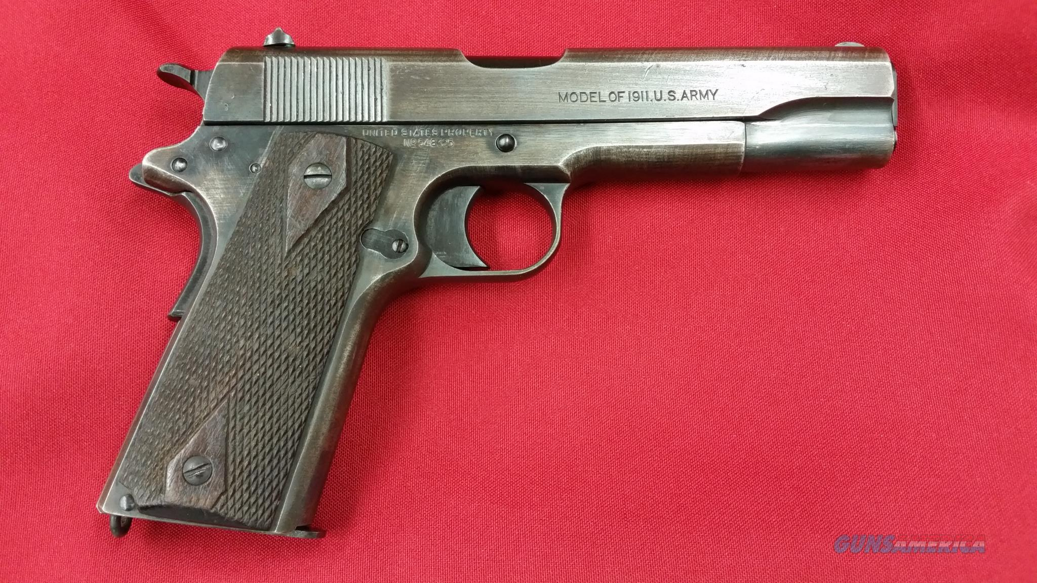 Colt 1911 US Army WWI Issue w/ Holster MFC Date 1918 (looks hardly fired)  Guns > Pistols > Colt Automatic Pistols (1911 & Var)