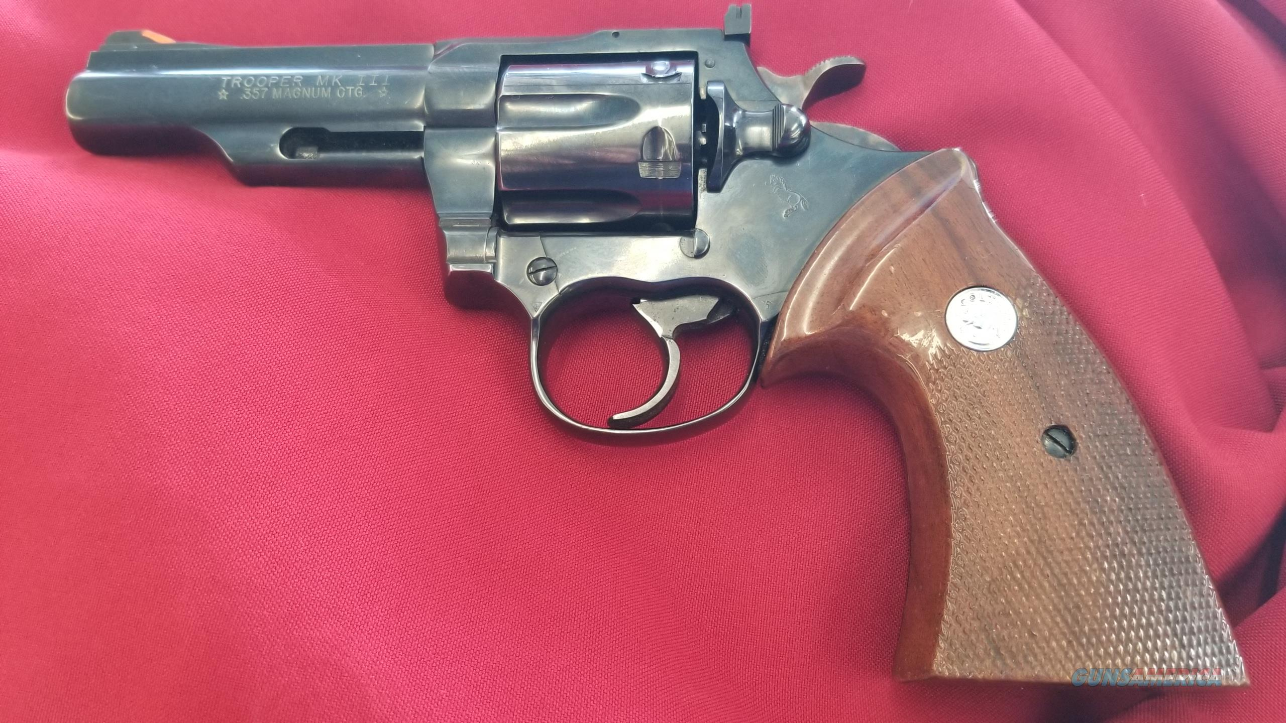 Used Colt Trooper III 4 Inch Revolver in .357 Magnum  Guns > Pistols > Colt Double Action Revolvers- Modern