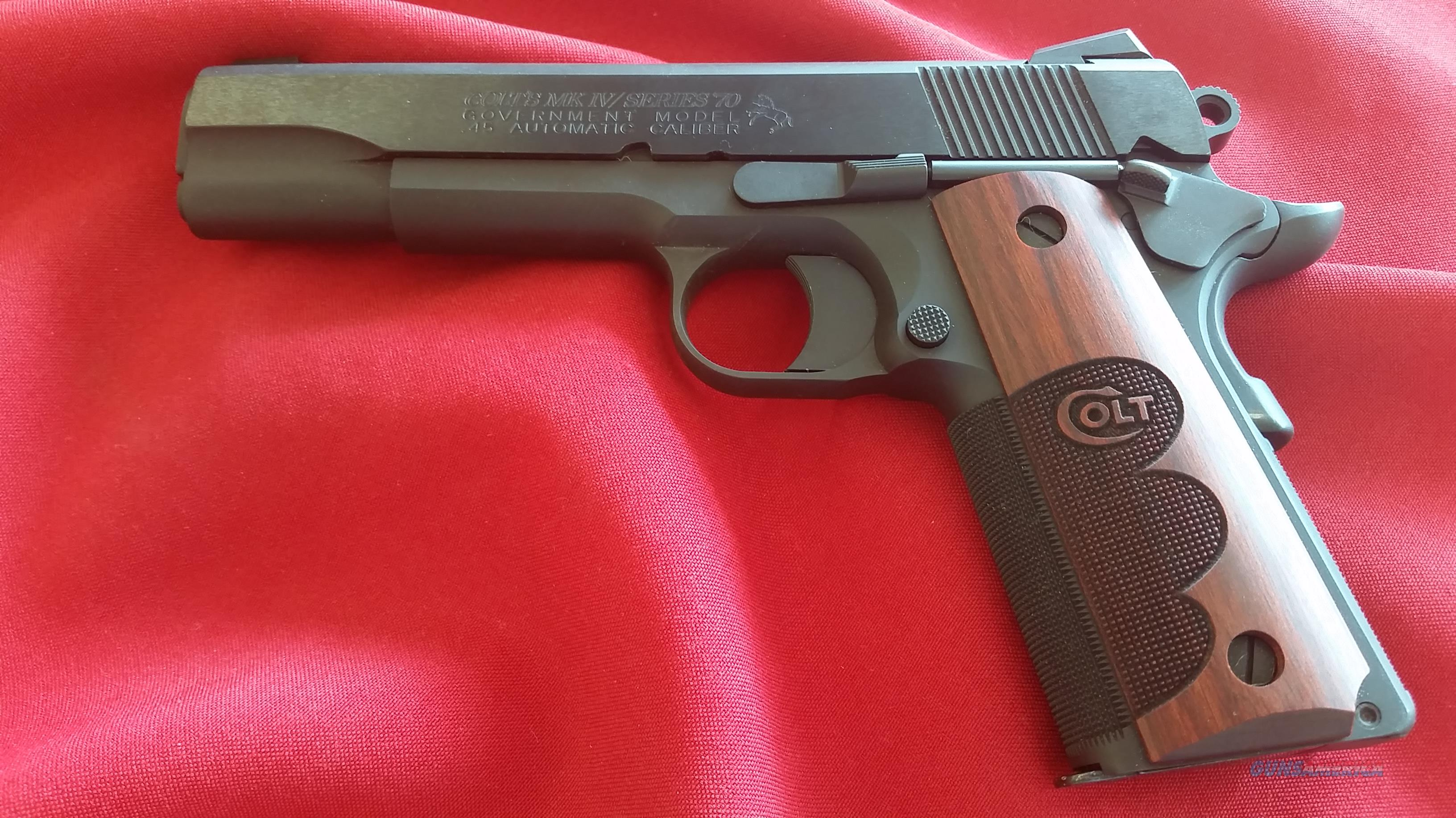 Colt Wiley Clapp Mark IV Series 70 .45 ACP Blue Finish w/ (2) 7 Round Mags                  Guns > Pistols > Colt Automatic Pistols (1911 & Var)