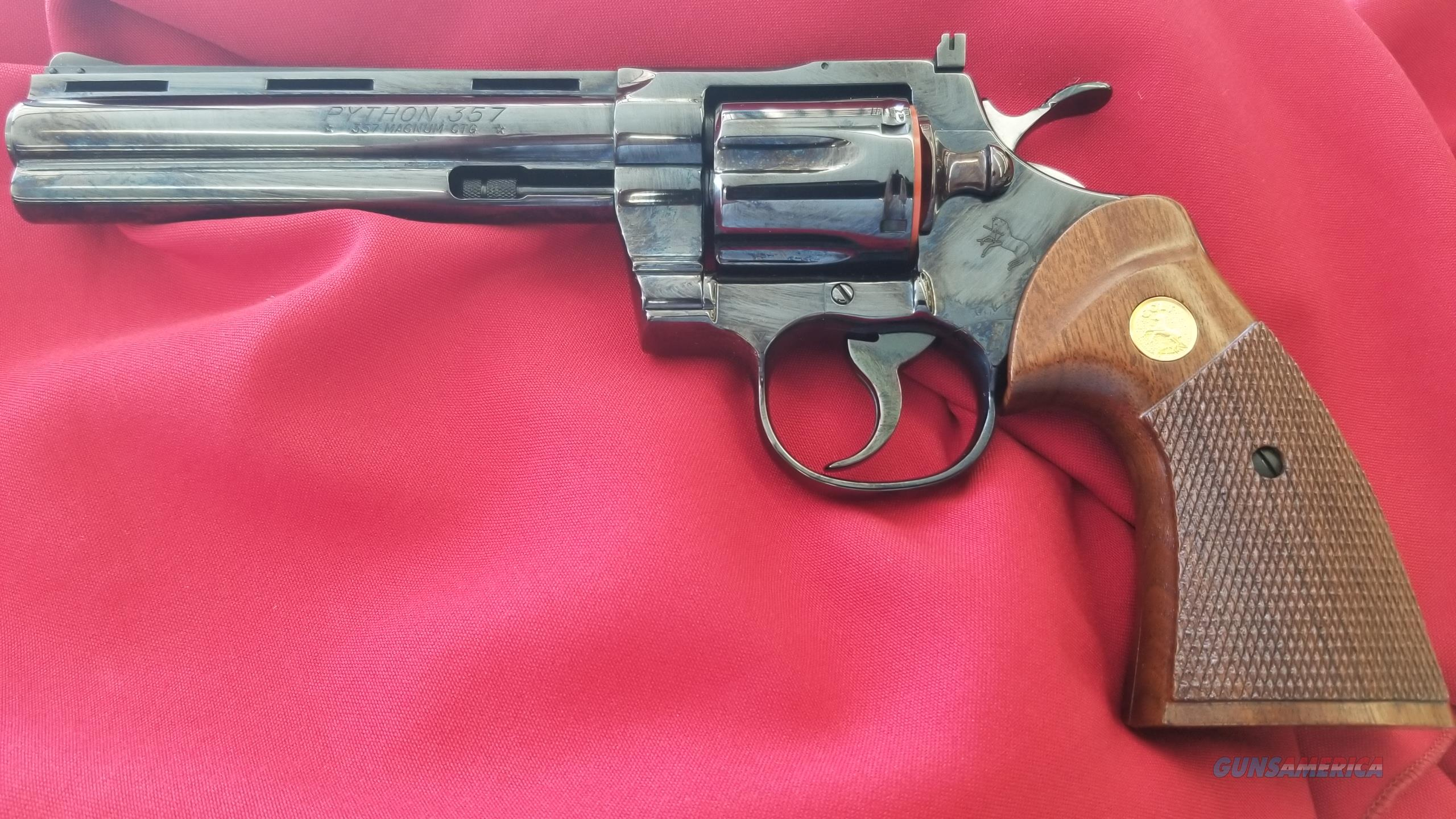 "Pre Owned Colt Python 6 "" Barrel in .357 Magnum w/ Box and Paperwork  Guns > Pistols > Colt Double Action Revolvers- Modern"