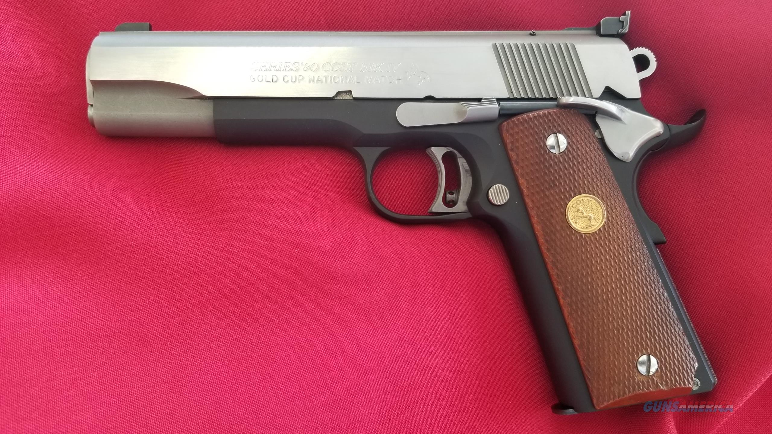 Used Colt Mark IV Gold Cup National Match .45 Colt Two-Tone  Guns > Pistols > Colt Automatic Pistols (1911 & Var)