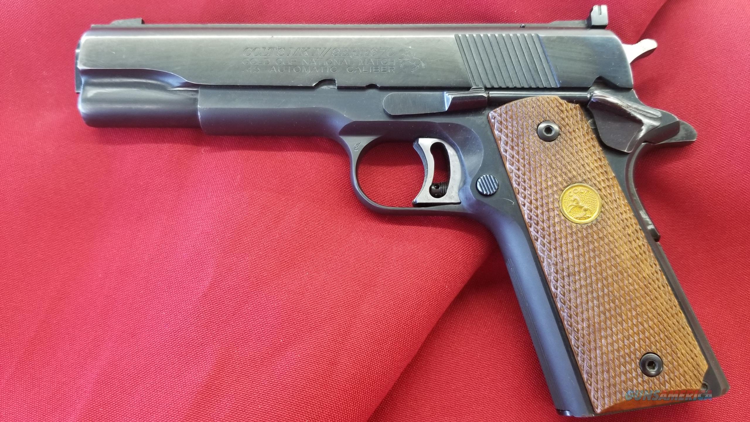 Pre Owned Colt Gold Cup National Match Series 70 .45 ACP  Guns > Pistols > Colt Automatic Pistols (1911 & Var)