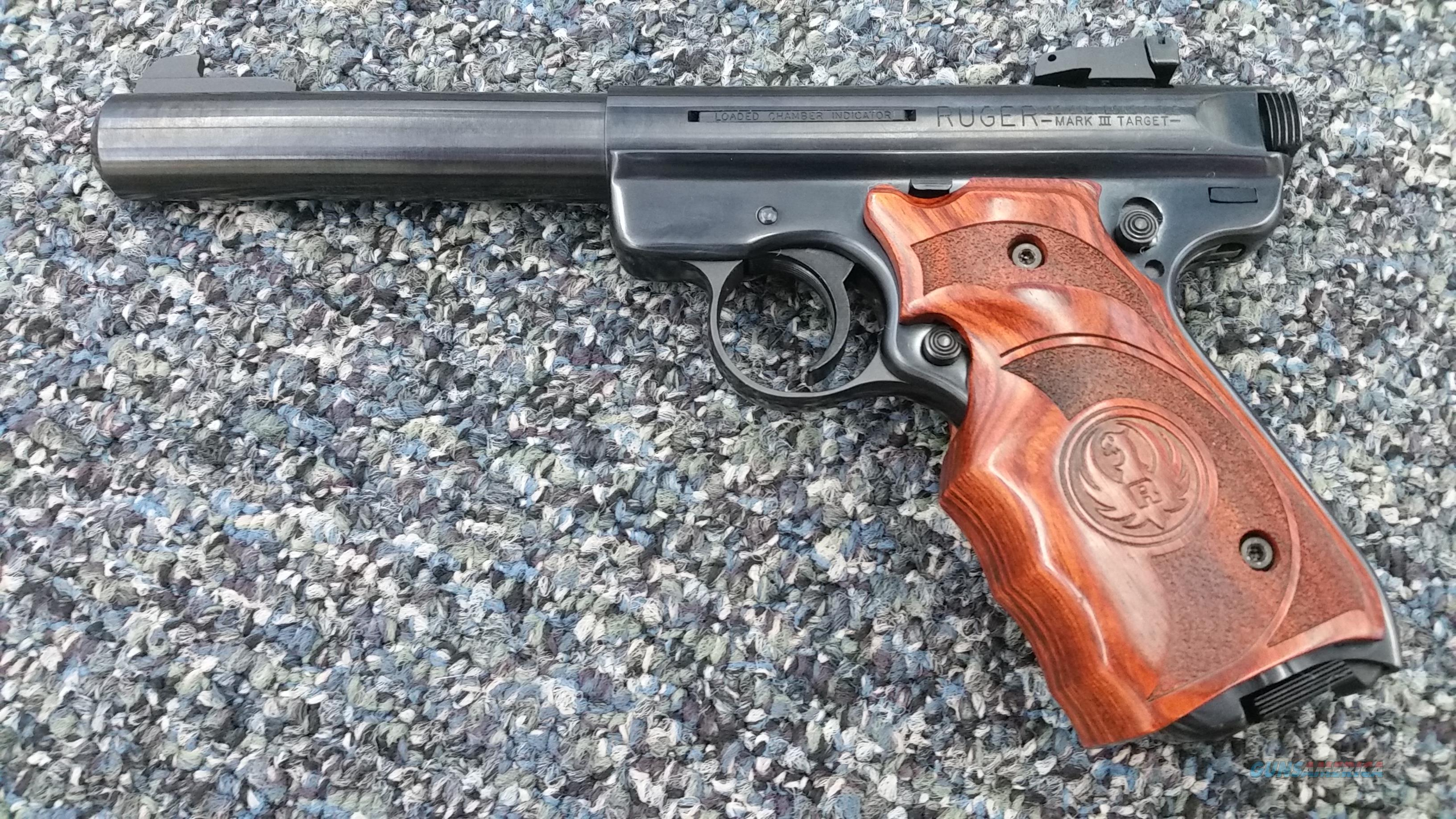 Used Ruger Mark III .22LR w/ Oversized Competition Grips  Guns > Pistols > Ruger Semi-Auto Pistols > Mark I/II/III/IV Family