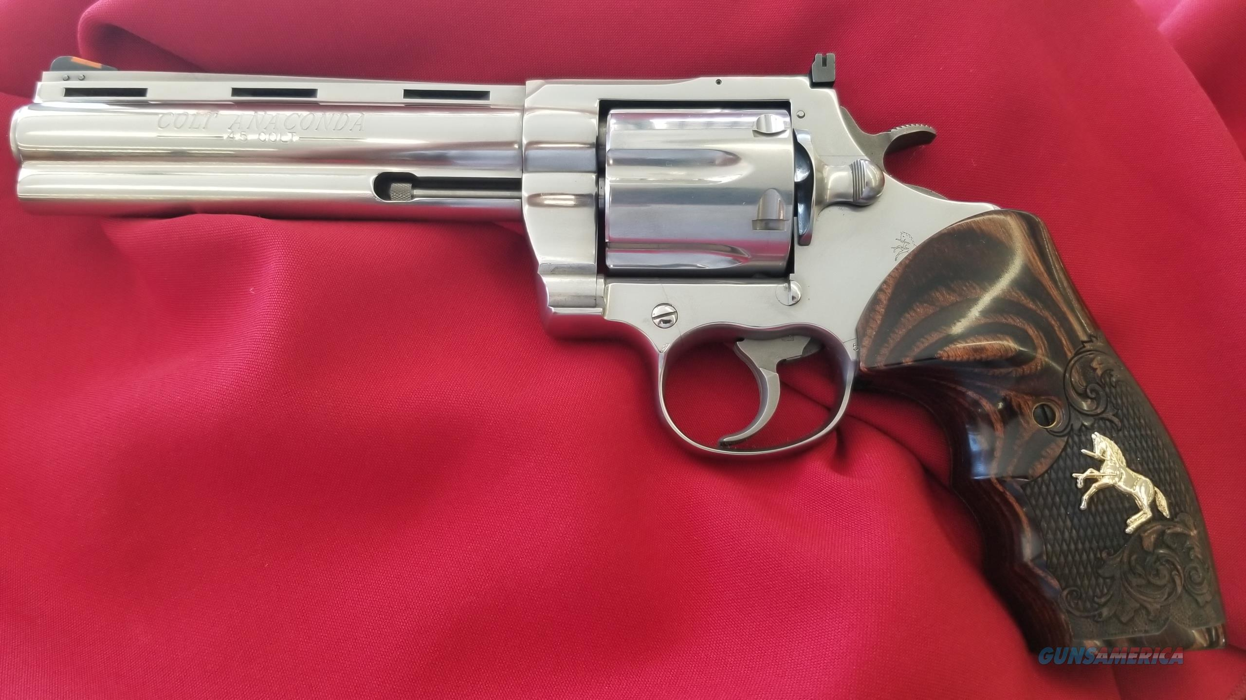 """Pre Owned Colt Anaconda 6"""" Barrel in 45 Long Colt Looks Never Fired  Guns > Pistols > Colt Double Action Revolvers- Modern"""