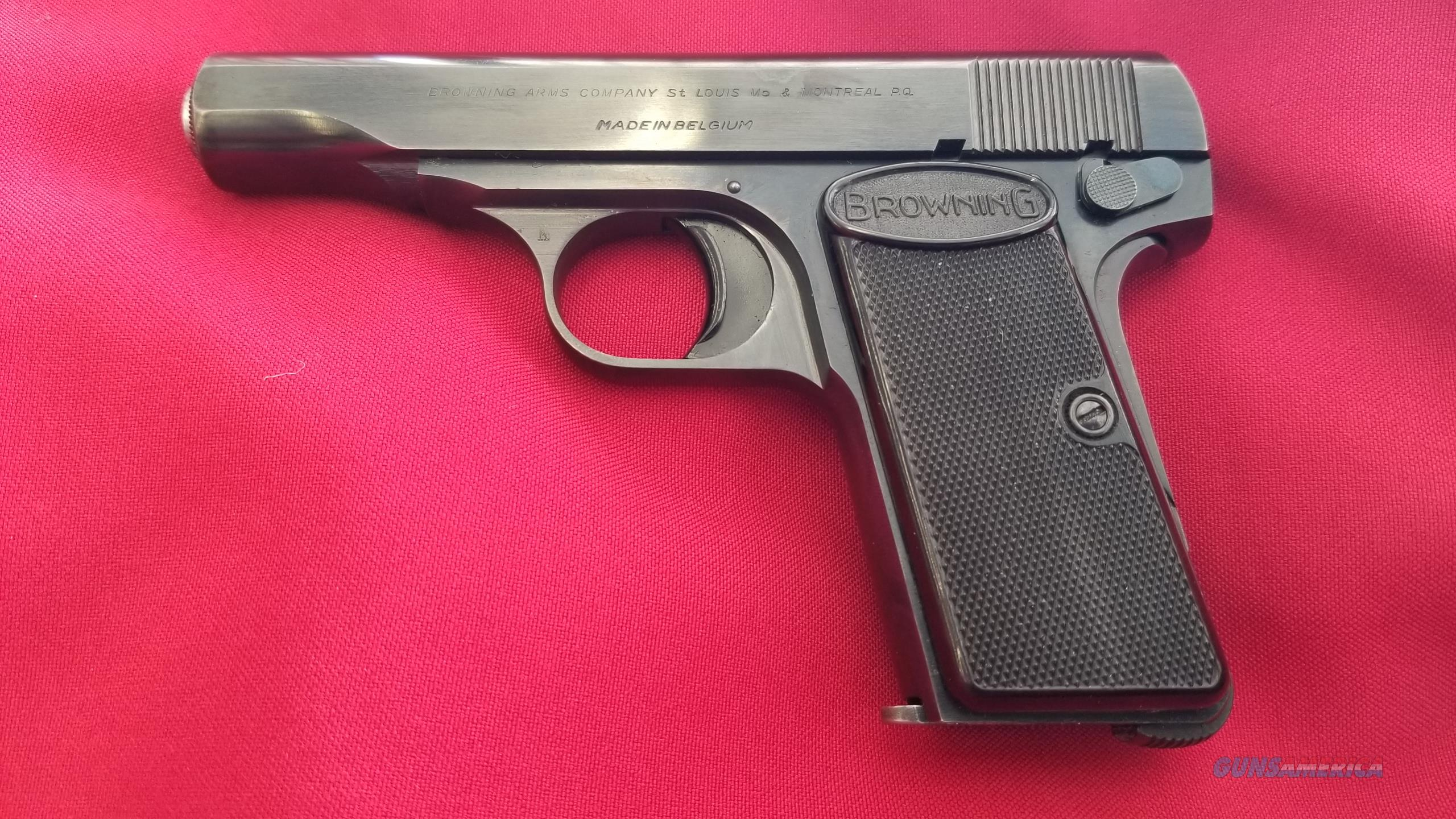 Used Browning 1910 .380 ACP Automatic Pistol With It's Pouch  Guns > Pistols > Browning Pistols > Other Autos