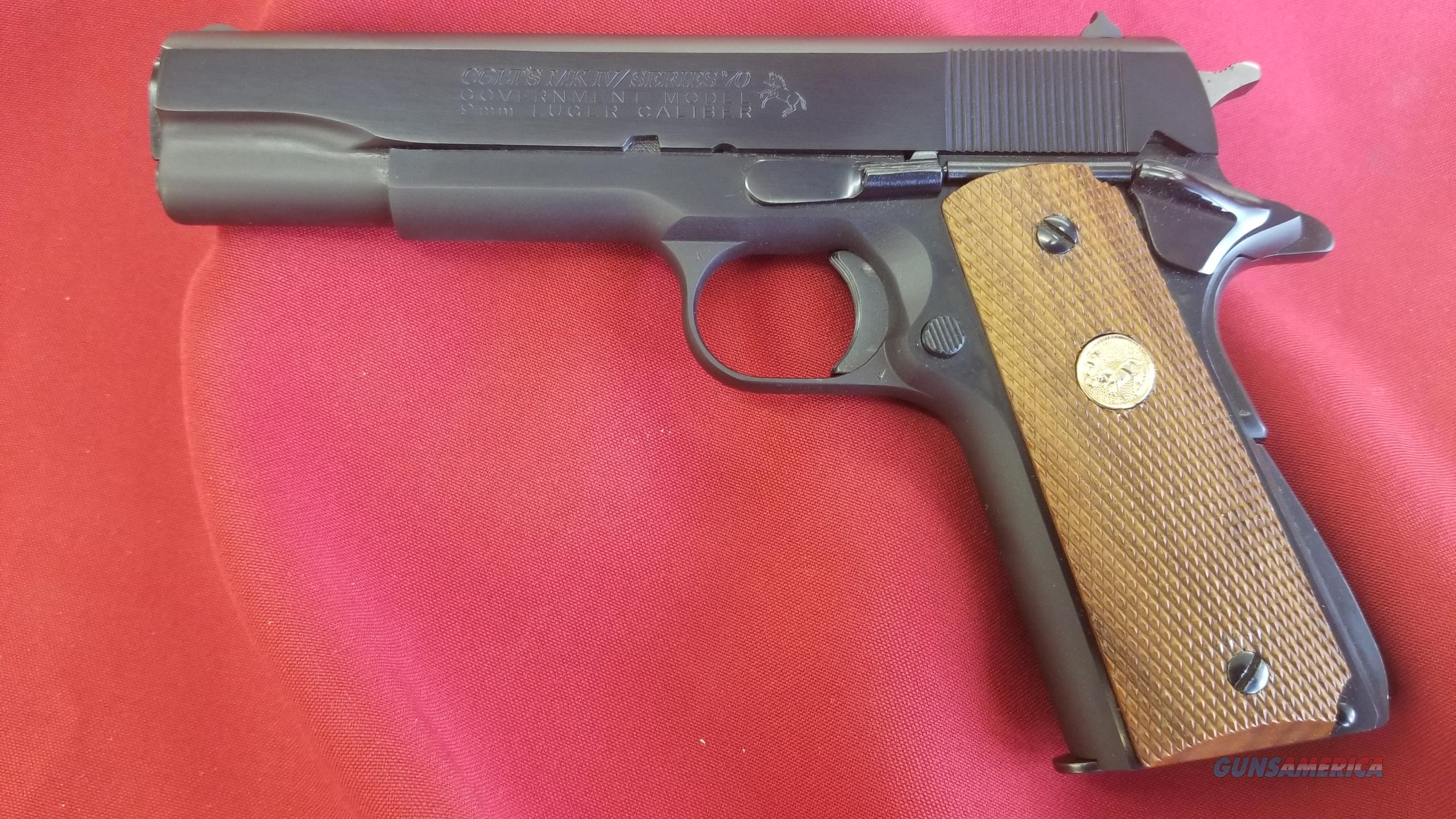 "Pre Owned Colt Government Model 70 Series 9mm w/ 5"" Barrel  Guns > Pistols > Colt Automatic Pistols (1911 & Var)"
